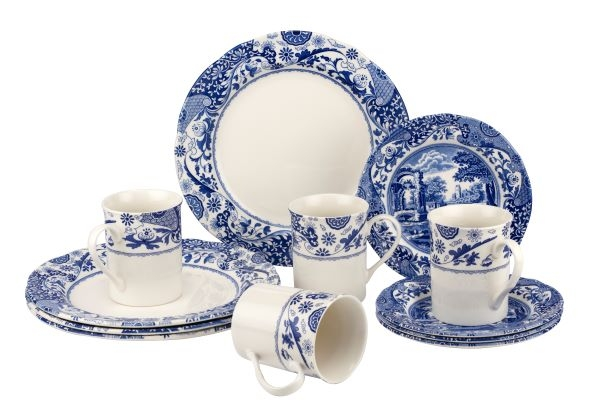 Spode Blue Italian Brocato 12 Piece Set (Mixed) image number 0