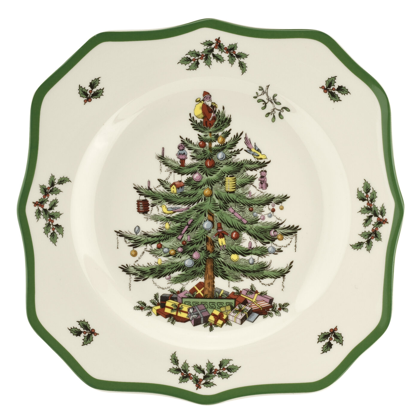 Spode Christmas Tree 2019 Scalloped Dinner Plate 10.5 Inch image number 0