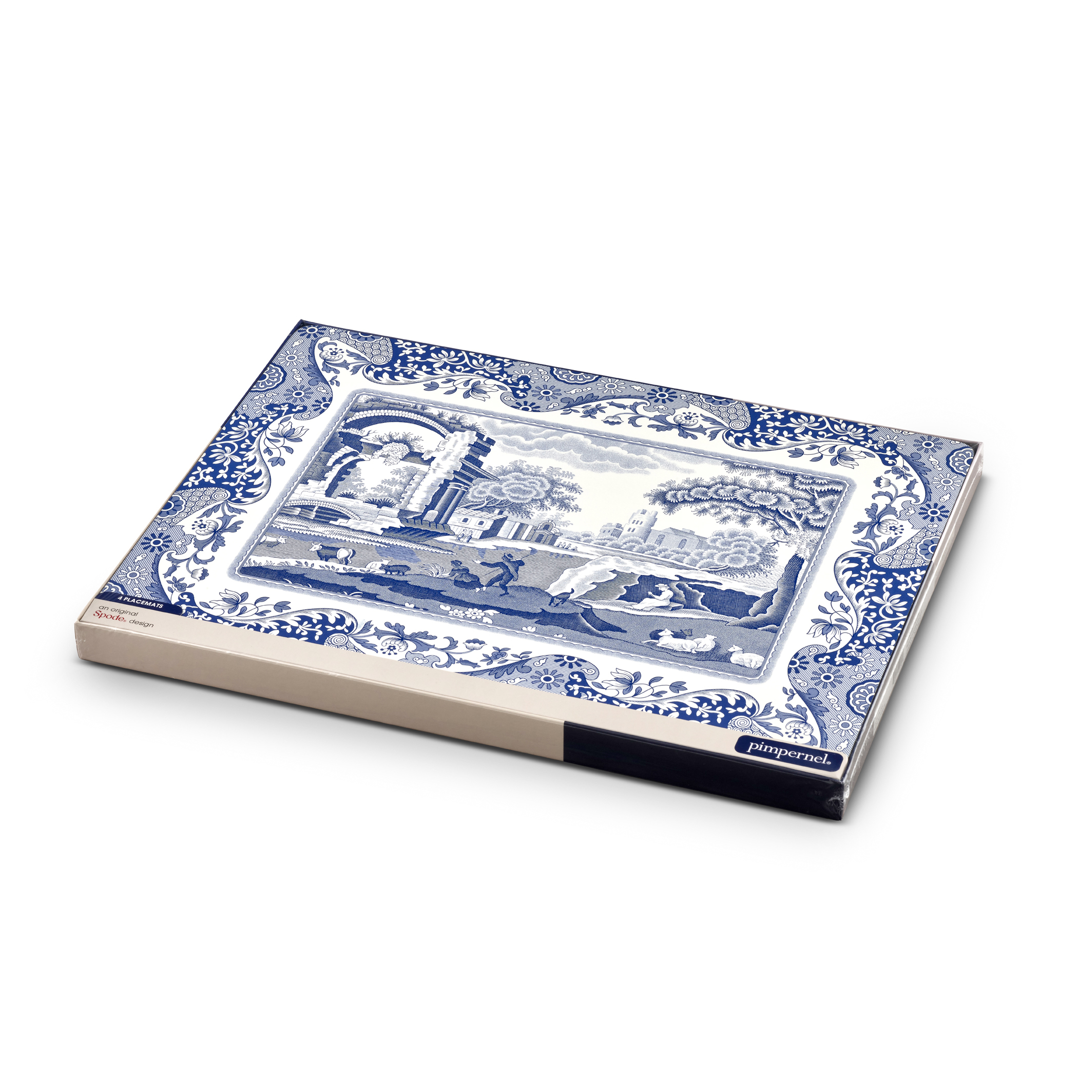 Pimpernel Blue Italian Placemats Set of 4 image number 4