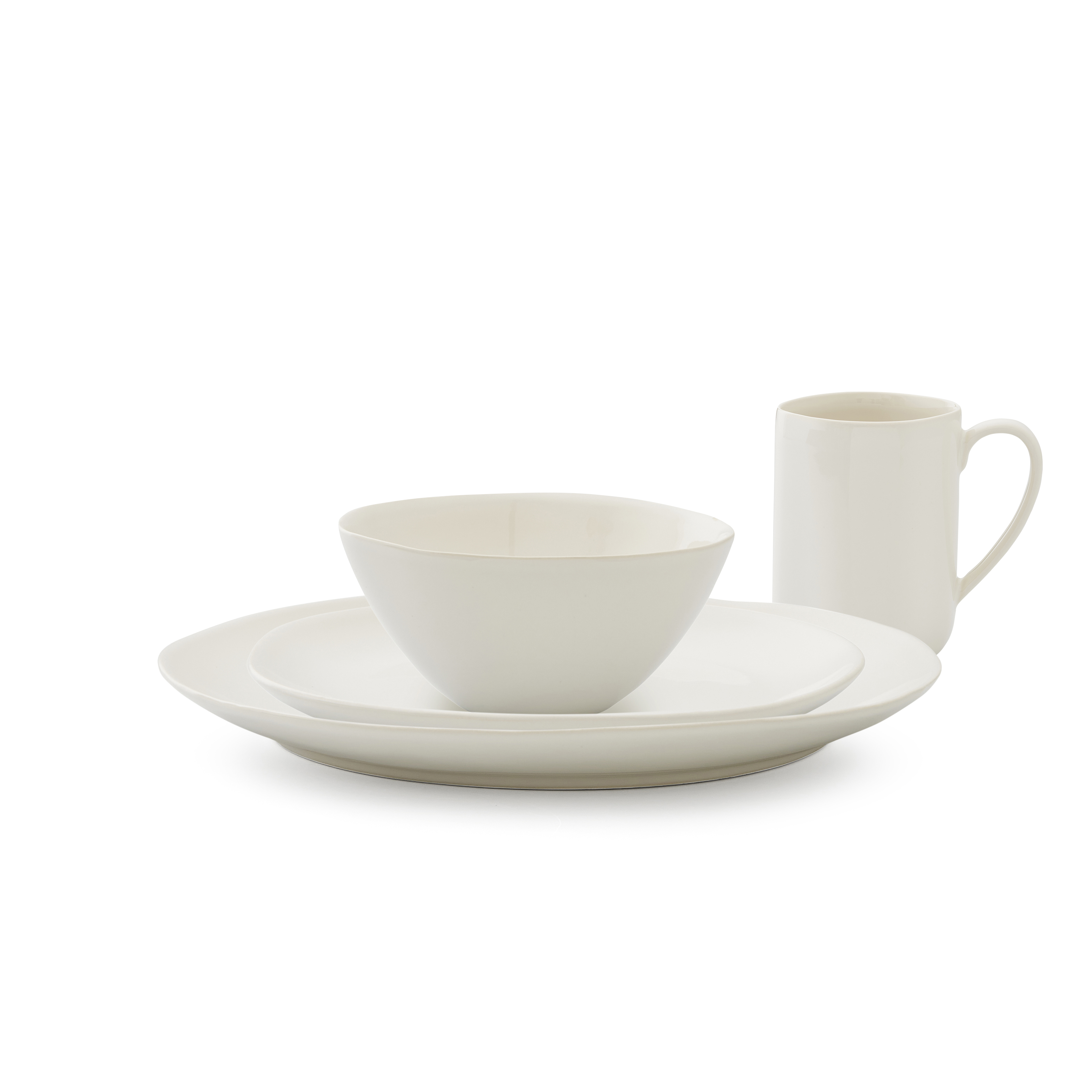 Sophie Conran Arbor 4 Piece Place Setting- Creamy White image number 0