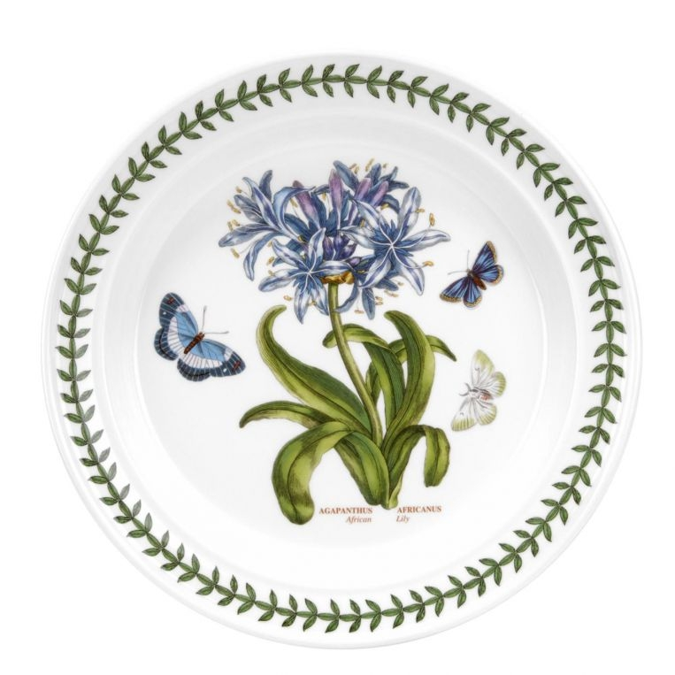 Portmeirion Botanic Garden Seconds 10.5 Inch Dinner Plate Single (African Lily) image number 0