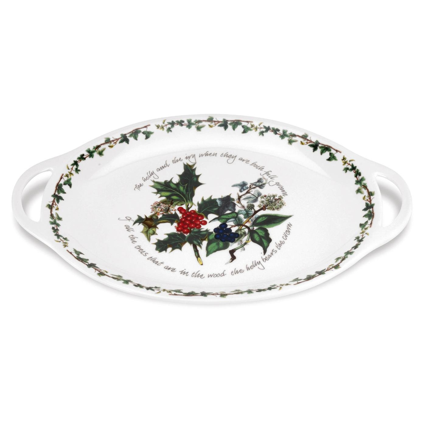 Portmeirion The Holly & The Ivy Oval Handled Platter image number 0