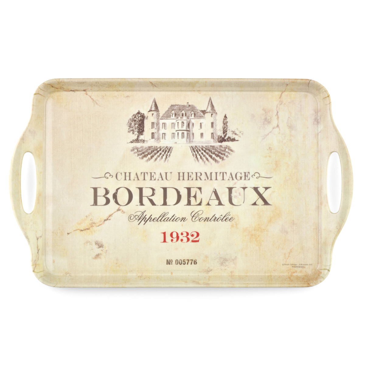 Pimpernel Vin de France Large Melamine Tray image number 0