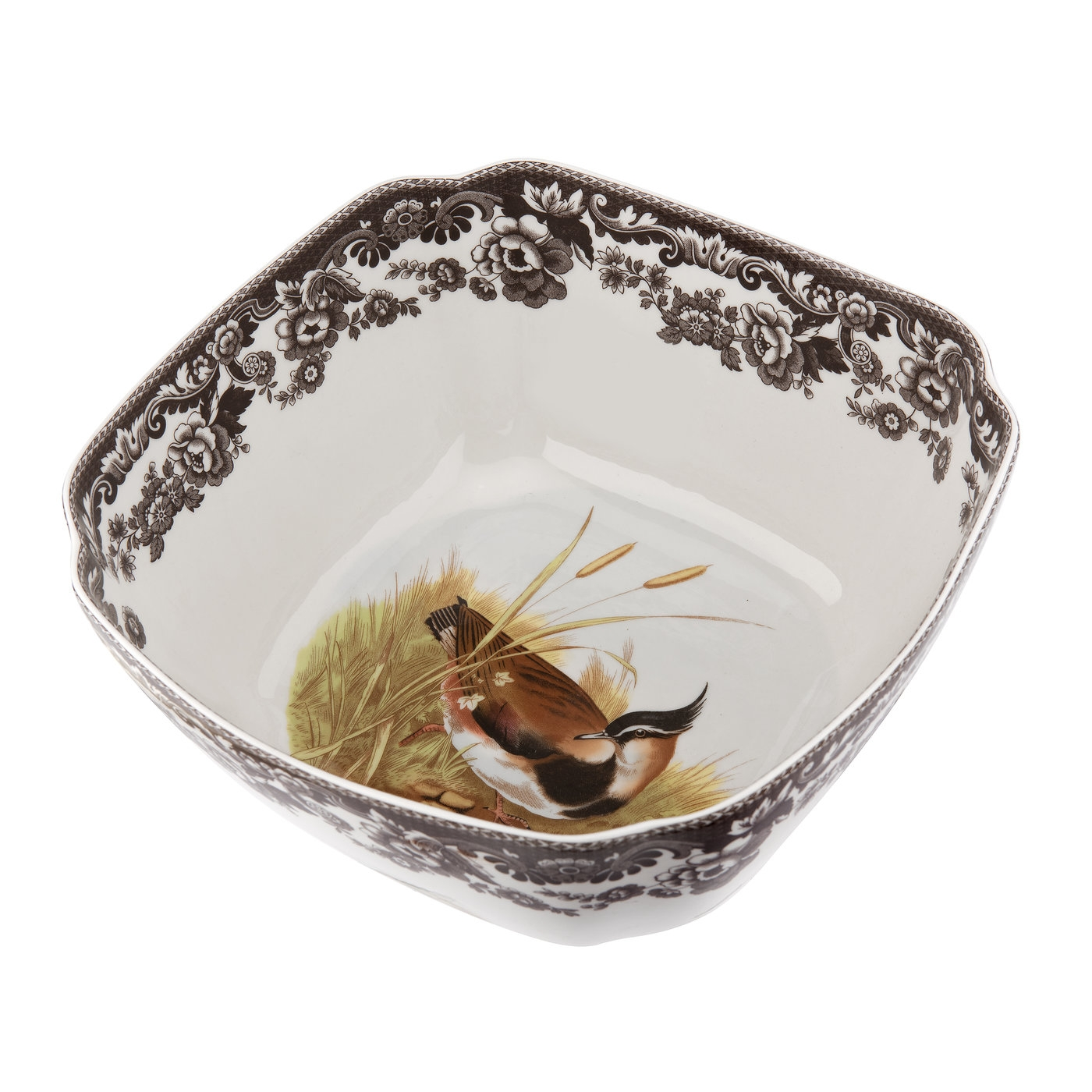 Spode Woodland Square Bowl (Quail/Lapwing) image number 0