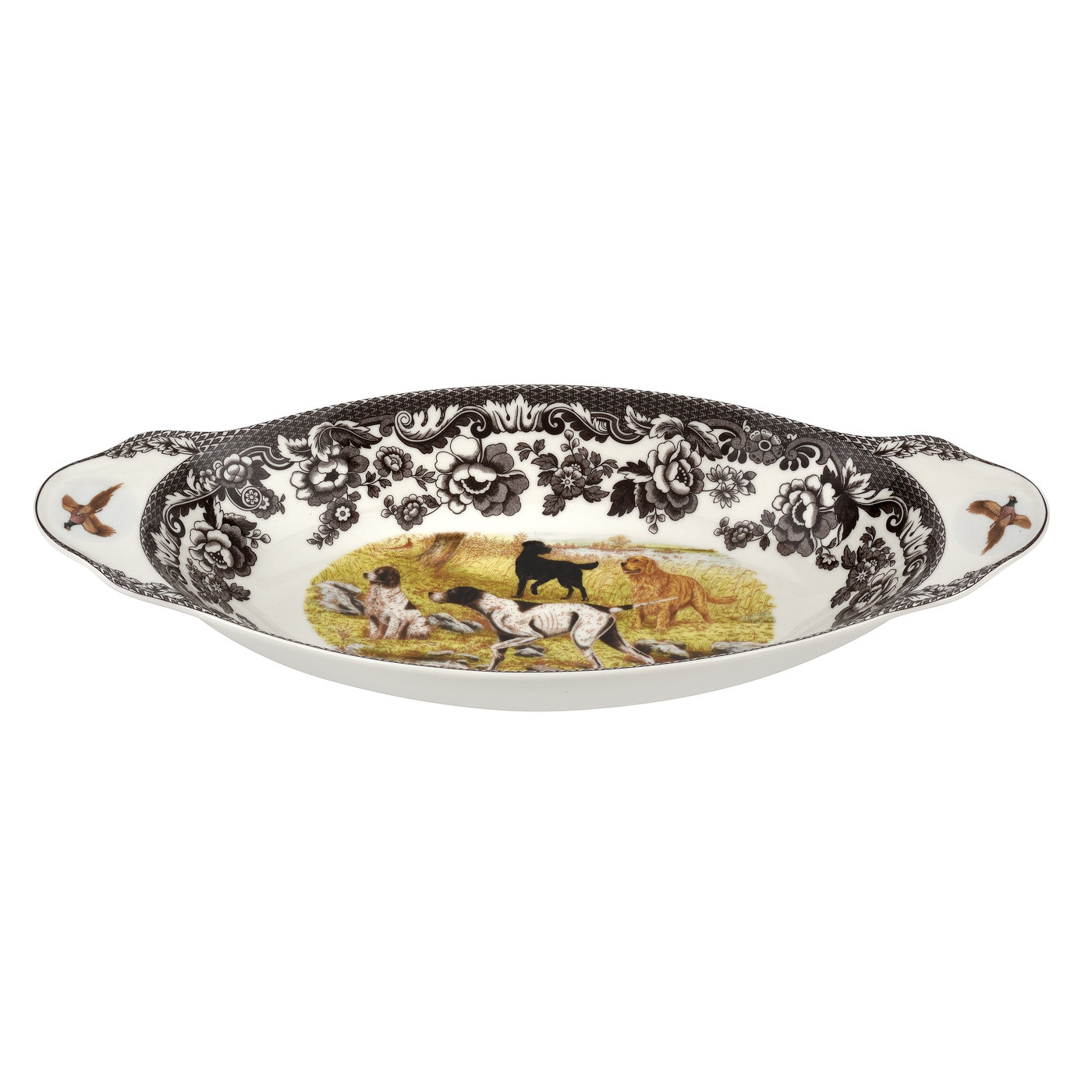 Spode Woodland Bread Tray 15.25 Inch (Dog Scene) image number 0