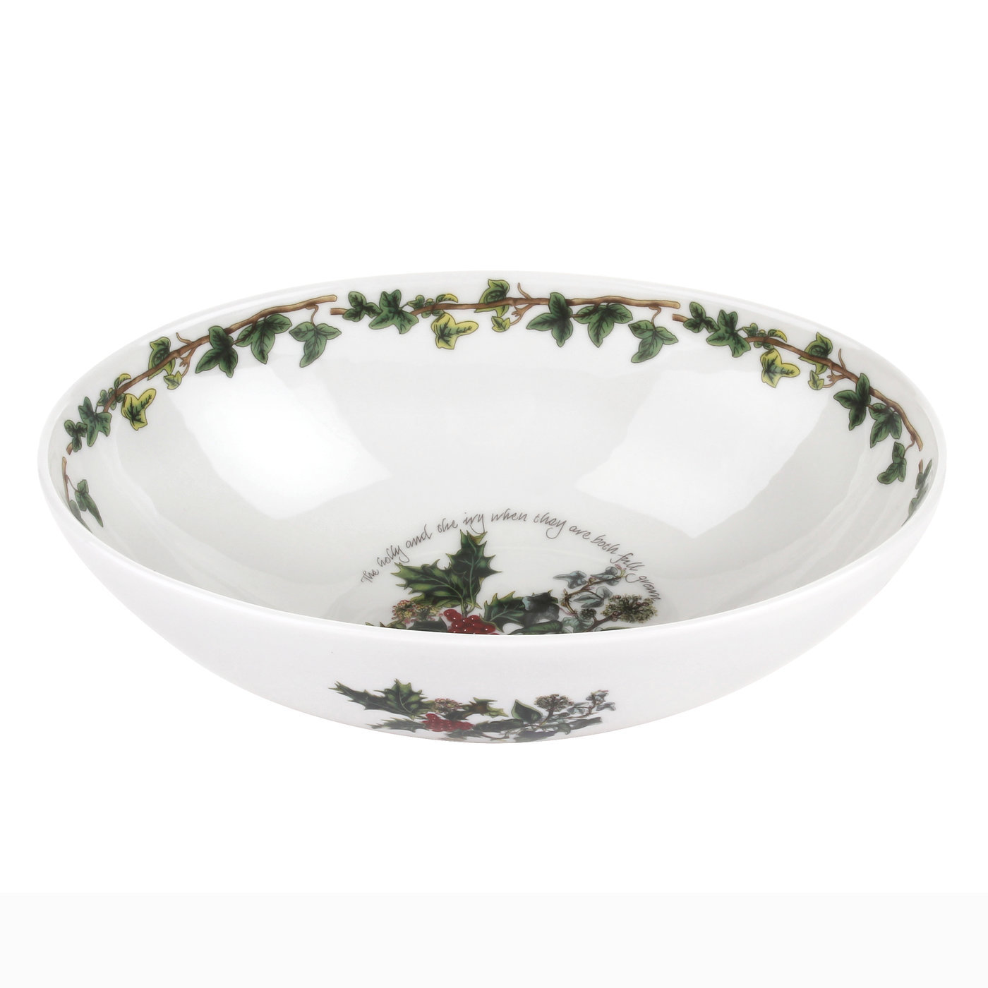Portmeirion The Holly and The Ivy 9 Inch Oval Bowl image number 0