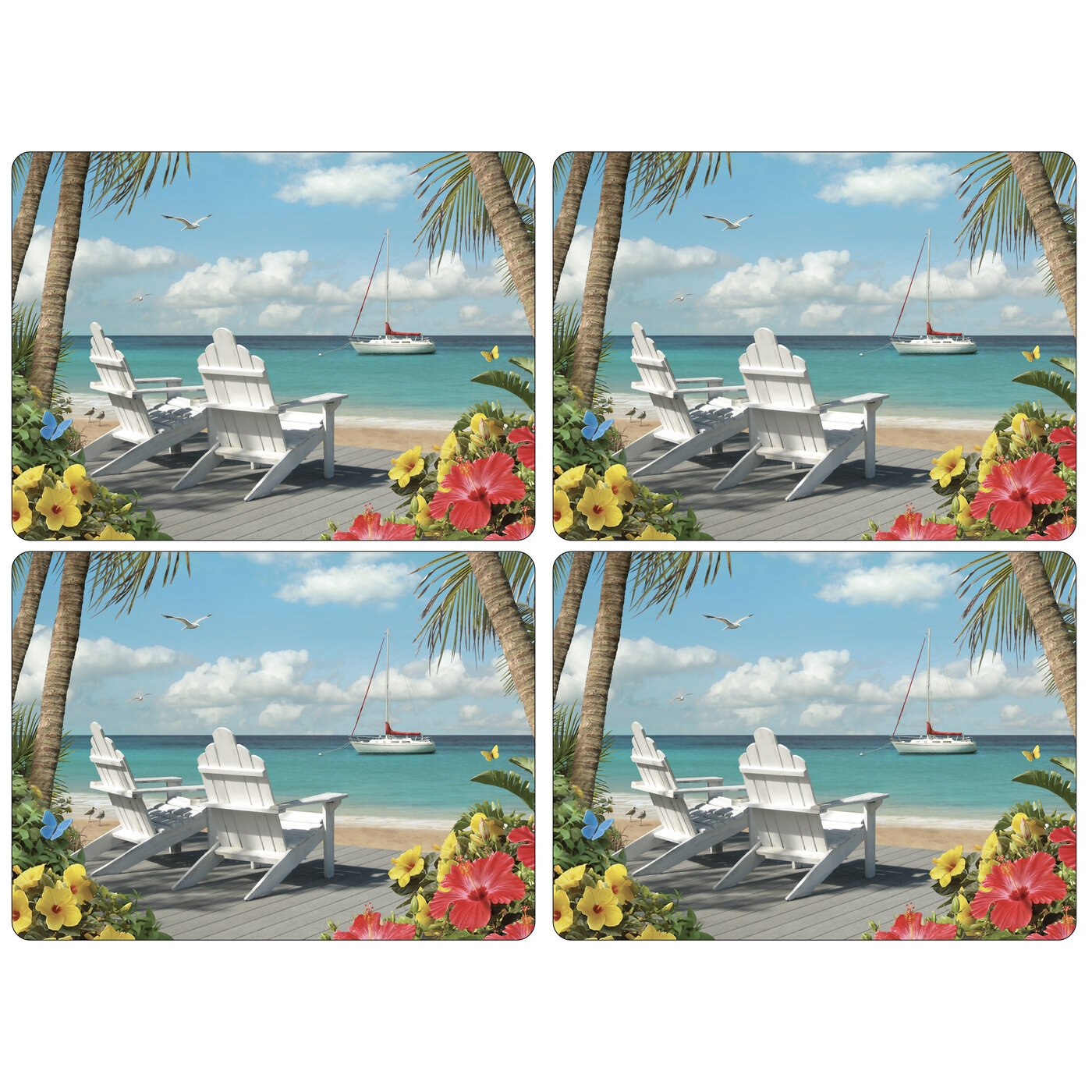 Pimpernel In The Sunshine Placemats Set of 4 image number 0