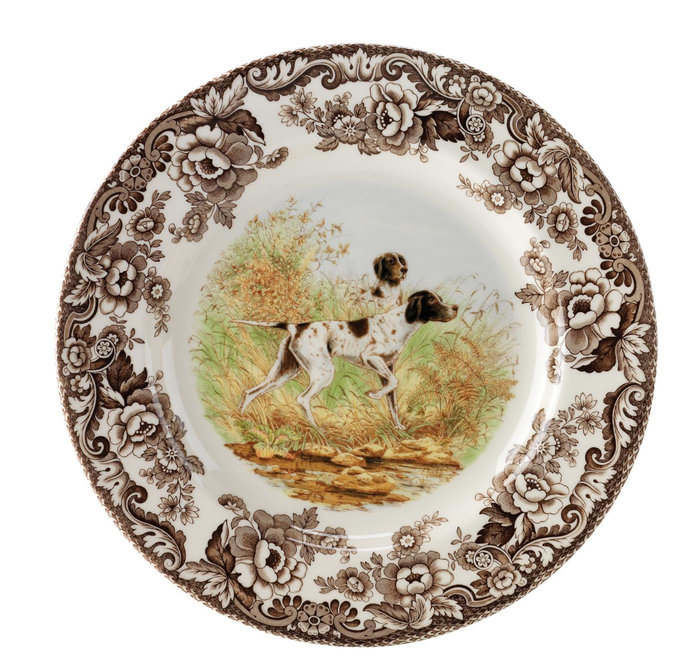Spode Woodland Salad Plate 8 Inch (Flat Coated Pointer) image number 0