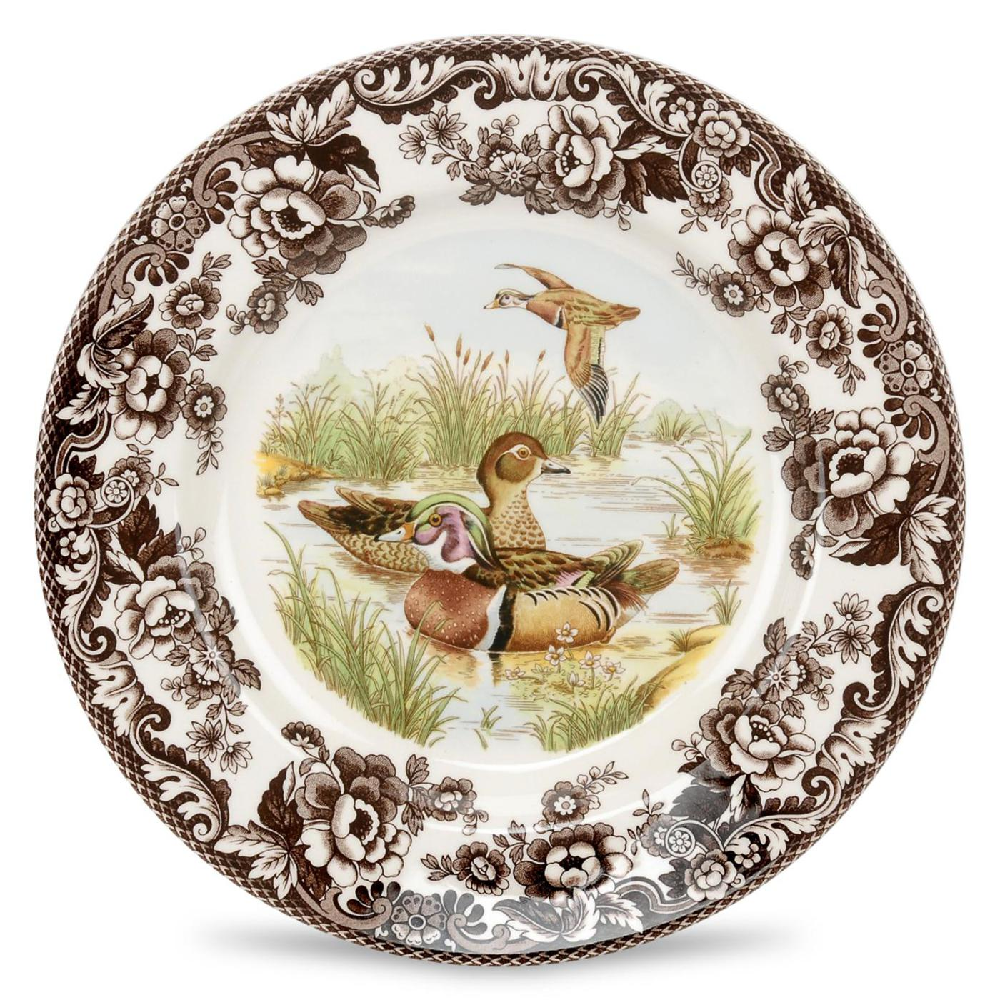 Spode Woodland Salad Plate 8 Inch (Wood Duck) image number 0