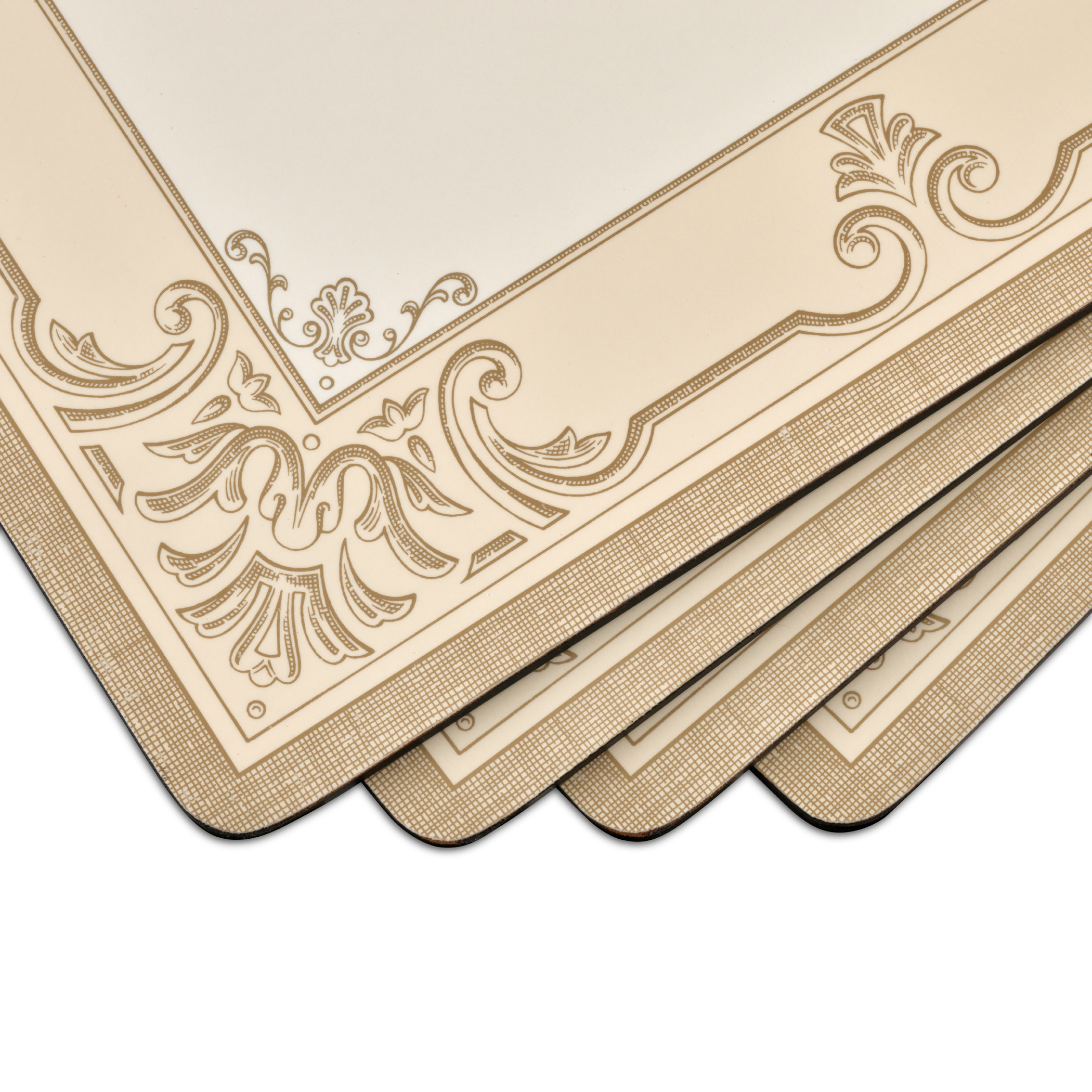 Pimpernel FDC-Fleur de Lys Taupe/Gold Placemats Set of 4 image number 1
