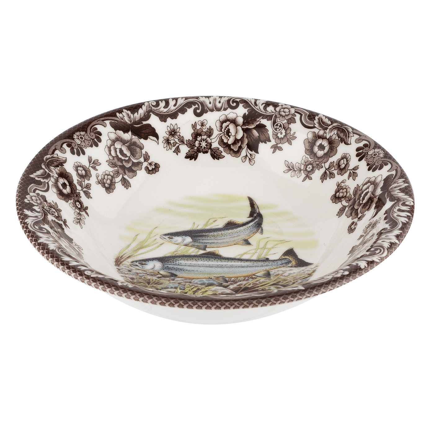 Spode Woodland Ascot Cereal Bowl 8 Inch (King Salmon) image number 0