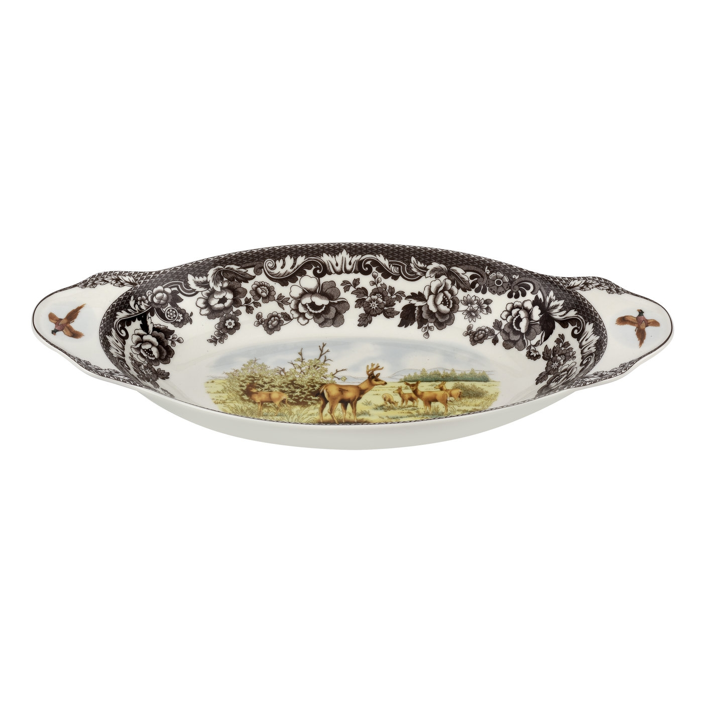 Spode Woodland Bread Tray 15.25 Inch (Mule Deer) image number 0