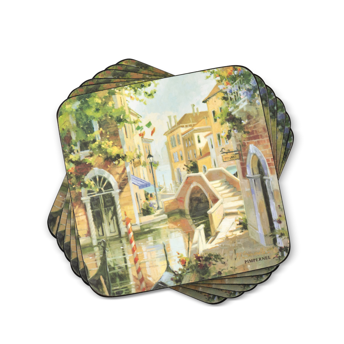 Pimpernel Venetian Scenes Coasters Set of 6 image number 0