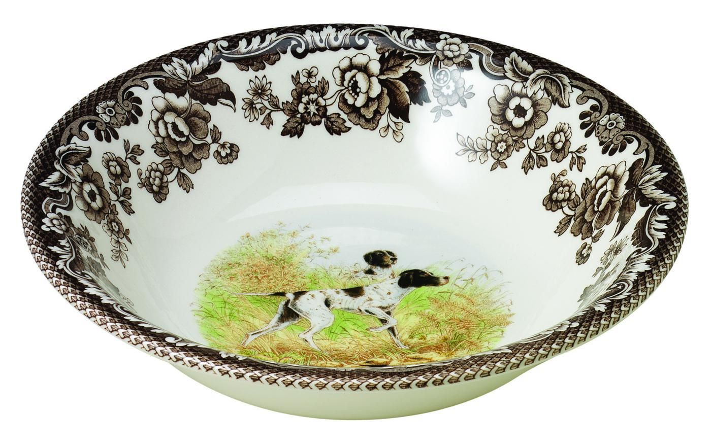 Spode Woodland Ascot Cereal Bowl 8 Inch (Flat Coated Pointer) image number 0