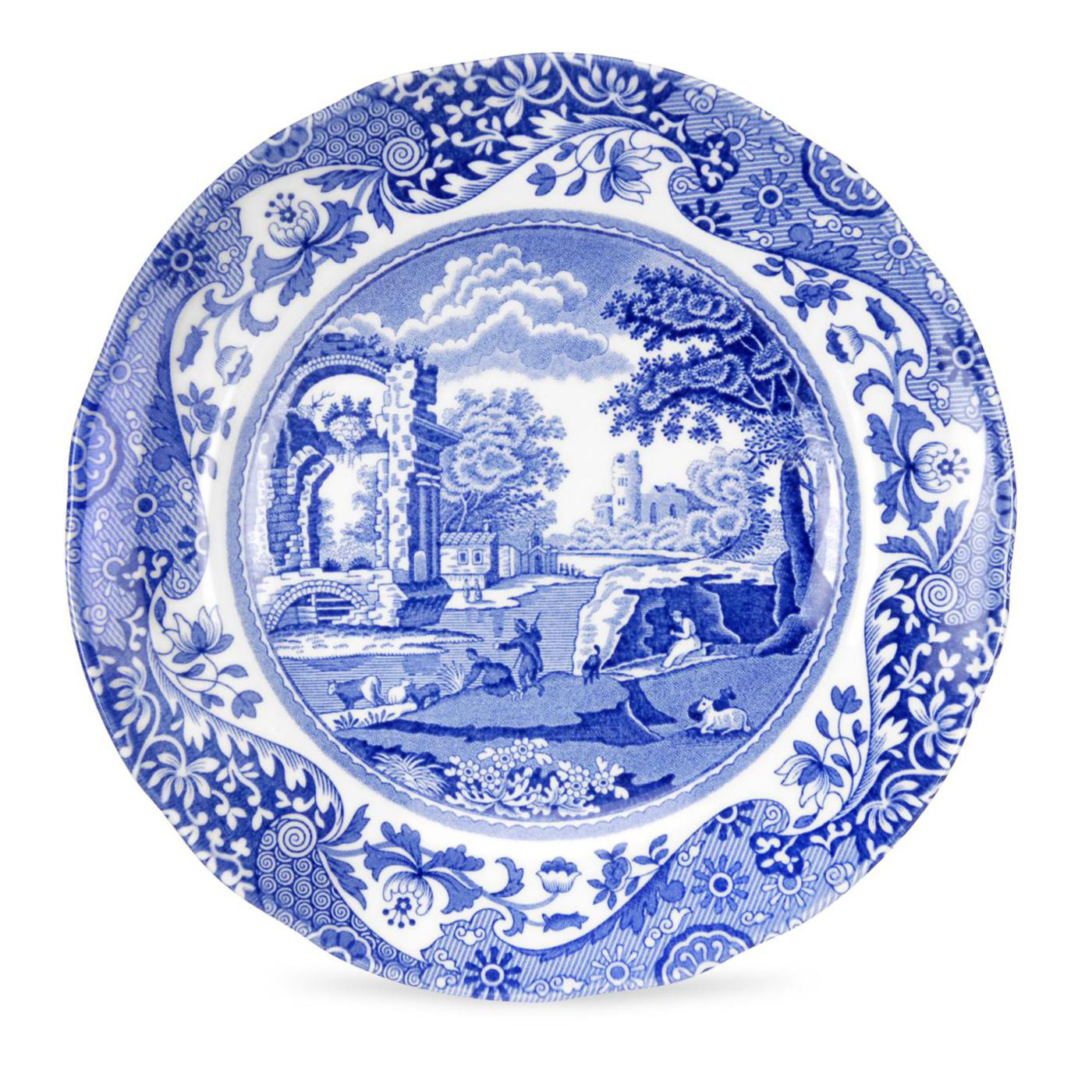 Spode Blue Italian Set of 4 Bread and Butter Plates image number 0