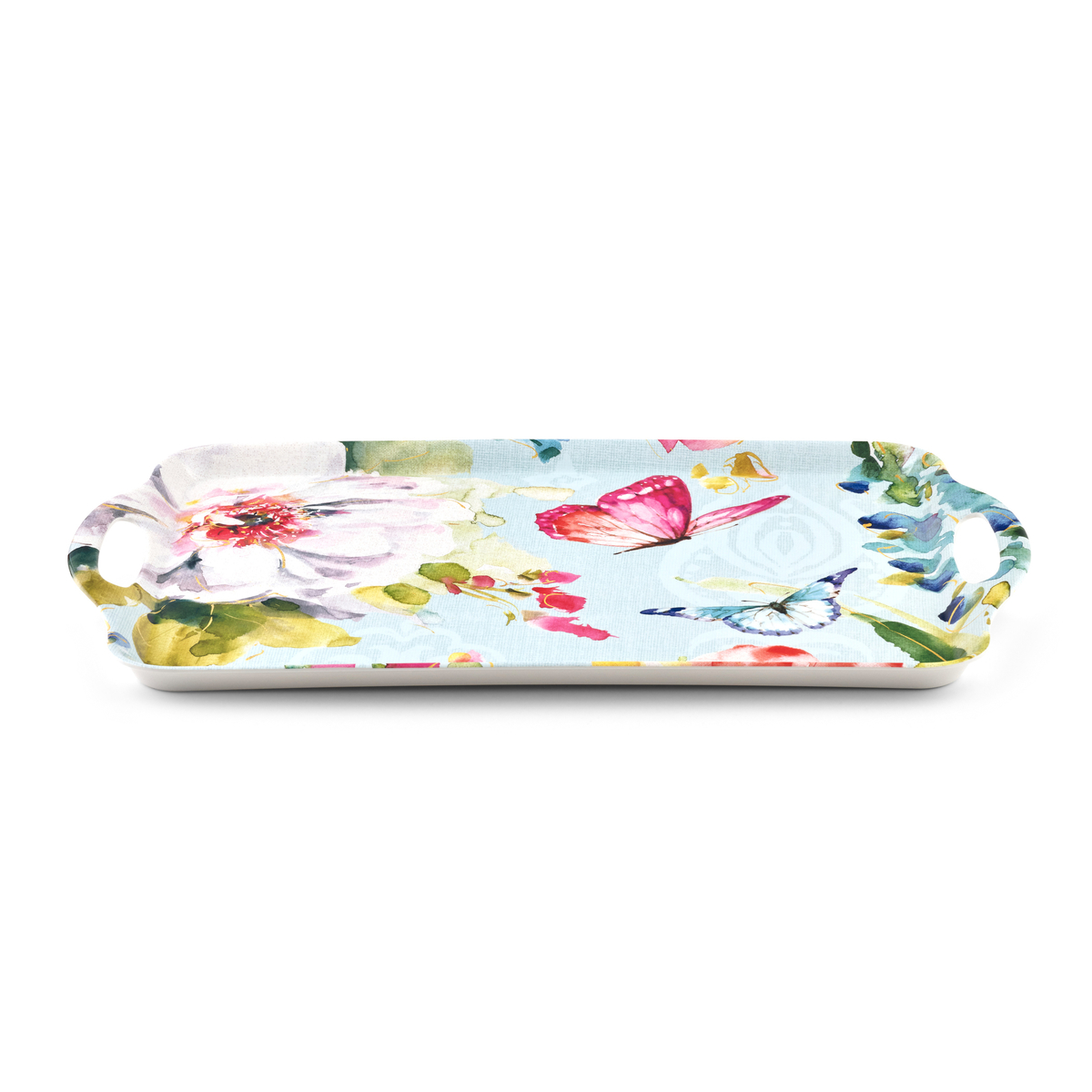 Pimpernel Colorful Breeze Large Melamine Handled Tray image number 1