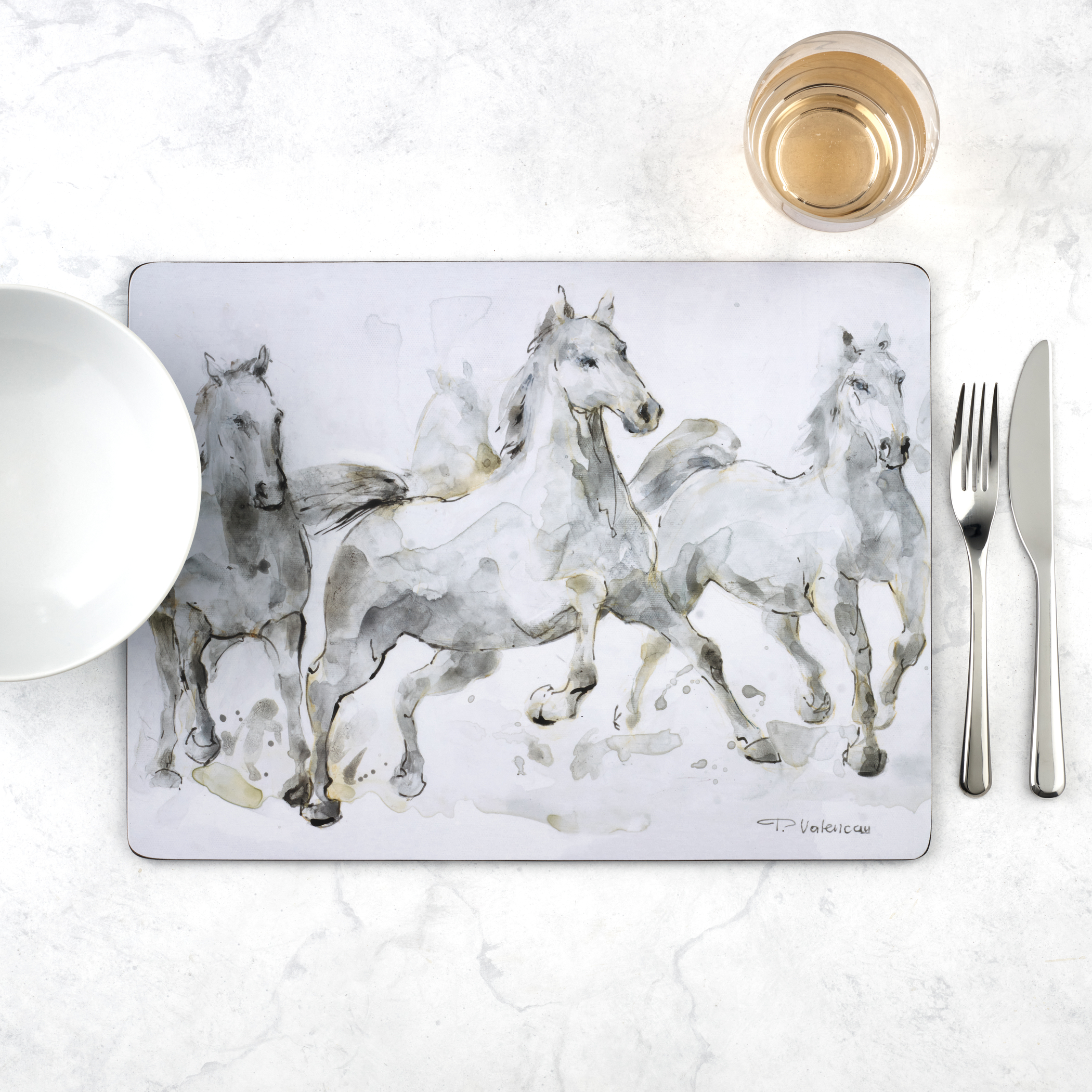Pimpernel Set of 4 Spirited Horses Placemats image number 5