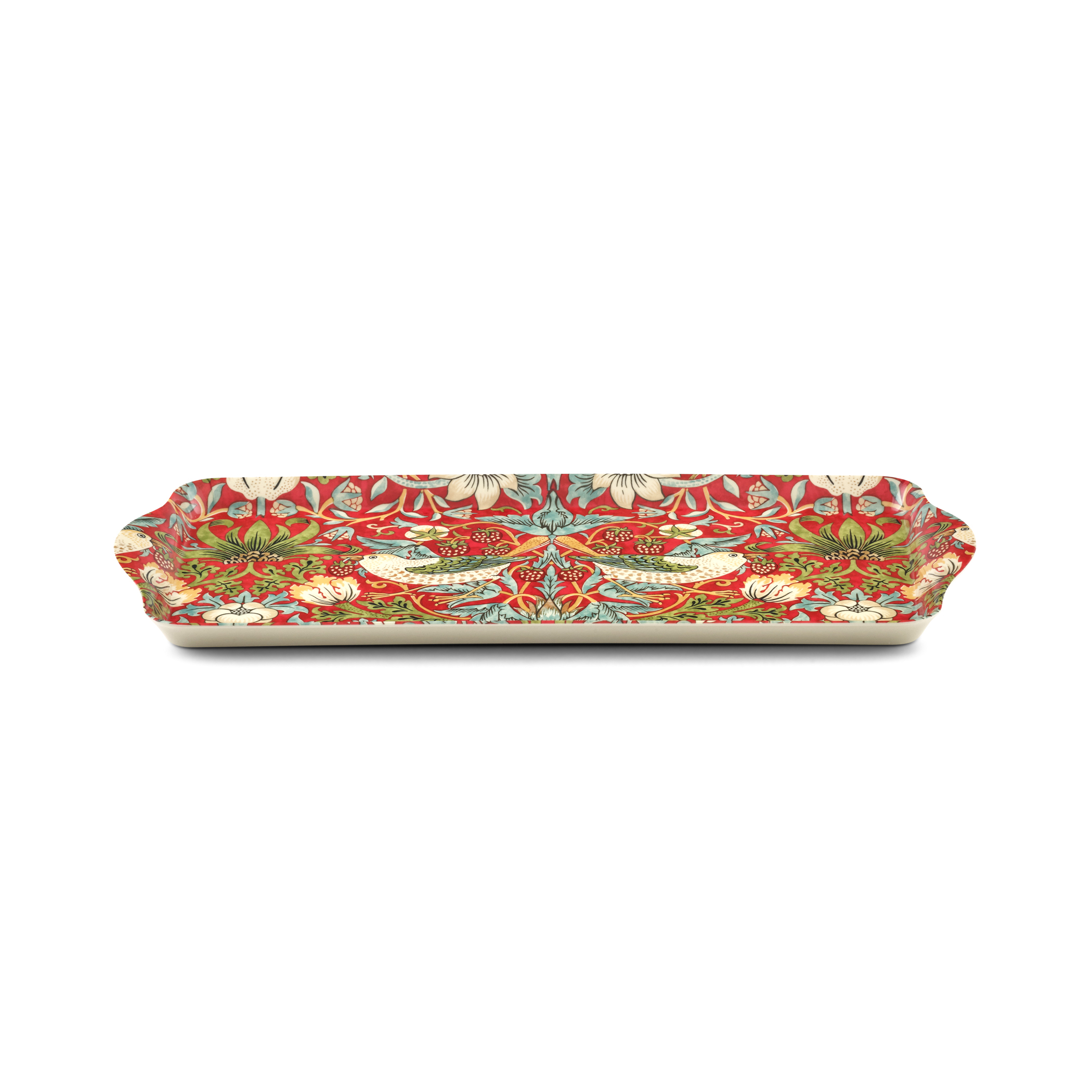 Morris and Co for Pimpernel Strawberry Thief Red Melamine Sandwich Tray image number 1
