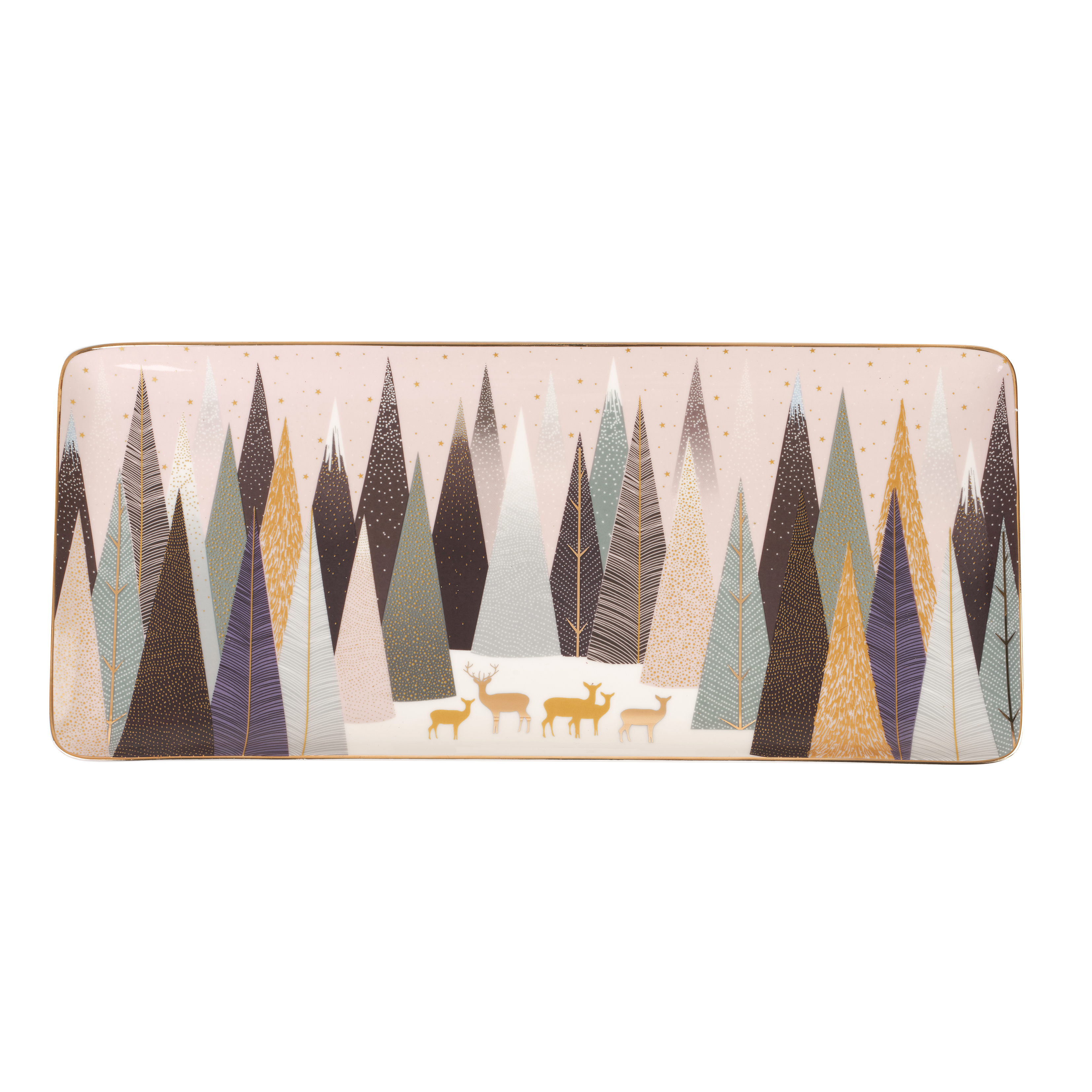 Sara Miller London for Portmeirion Frosted Pines 14 Inch Sandwich Tray image number 0
