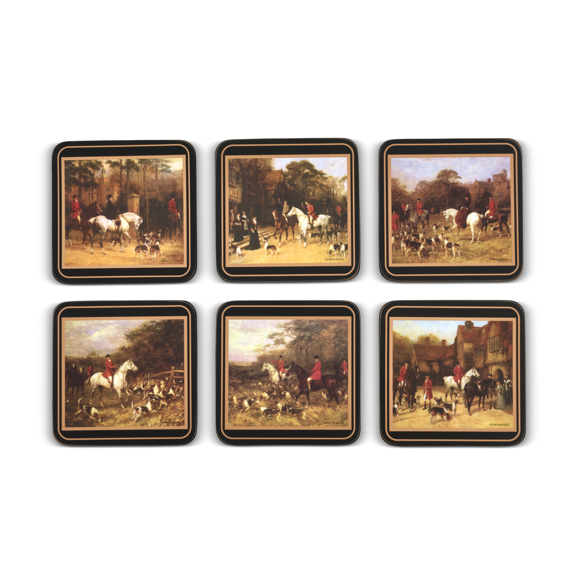 Pimpernel Tally Ho Coasters Set of 6 image number 2
