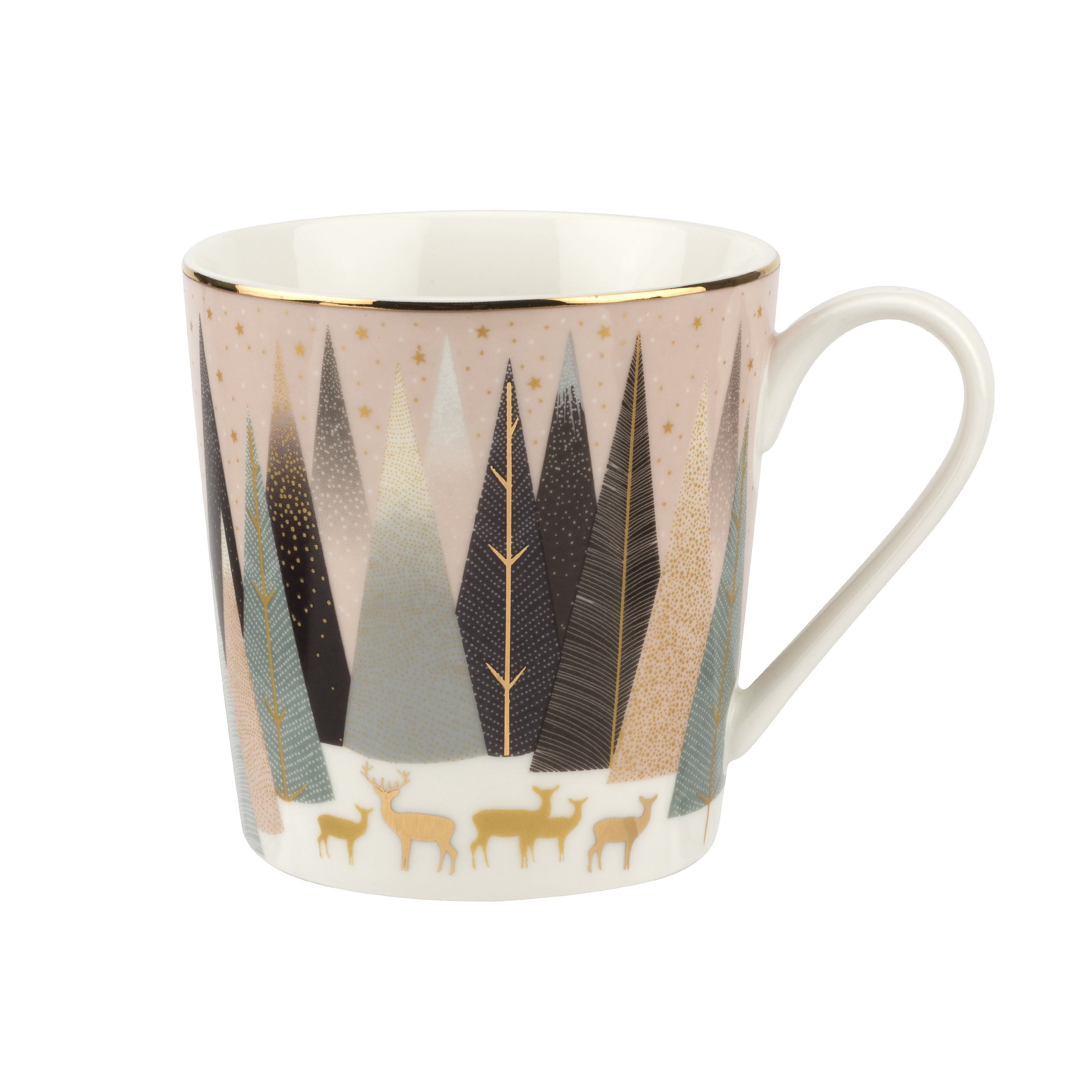Sara Miller London for Portmeirion Frosted Pines Set of 4 Mugs 12 oz image number 3