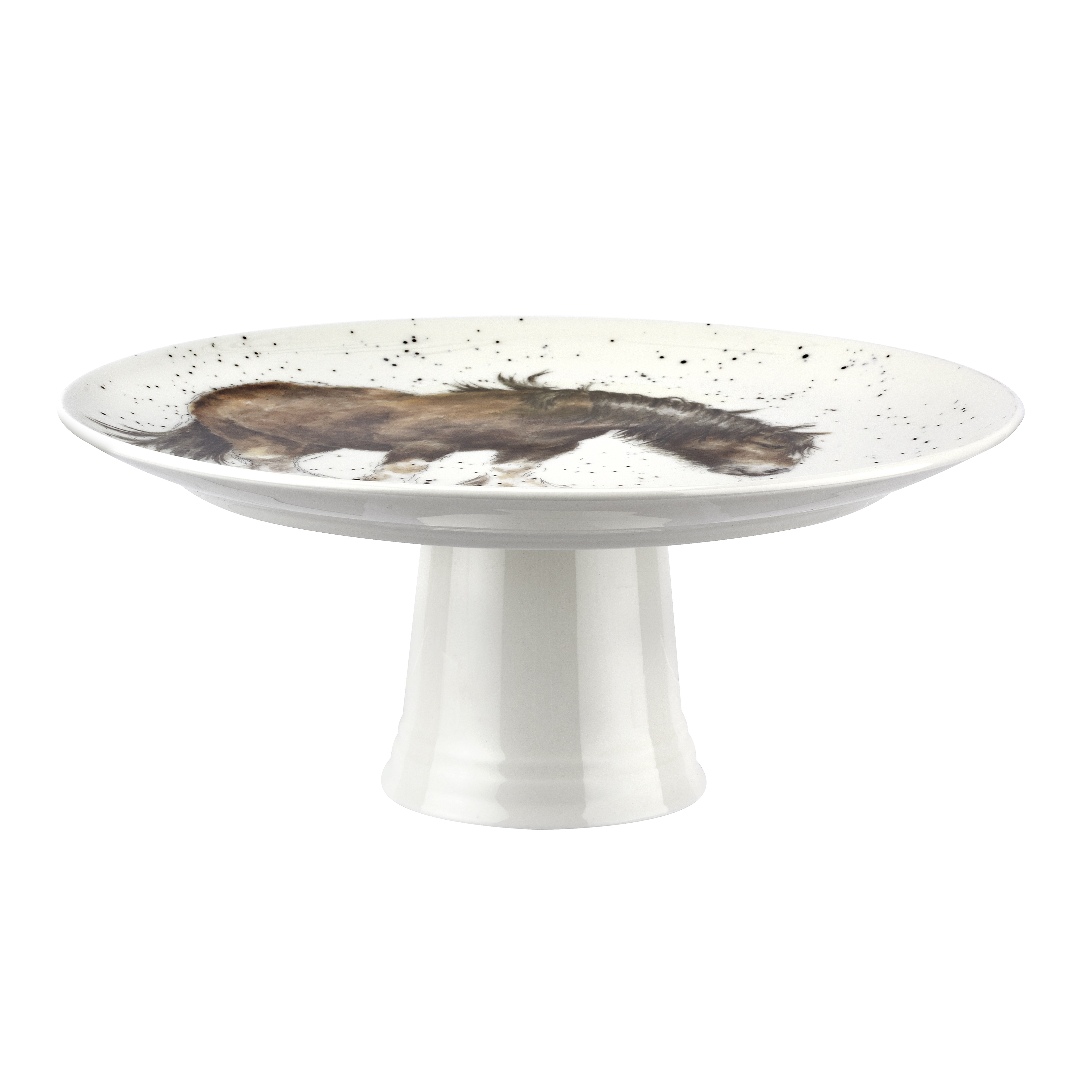 Royal Worcester Wrendale Designs 9.75 Inch Footed Cake Plate (Farmyard Friends) image number 2