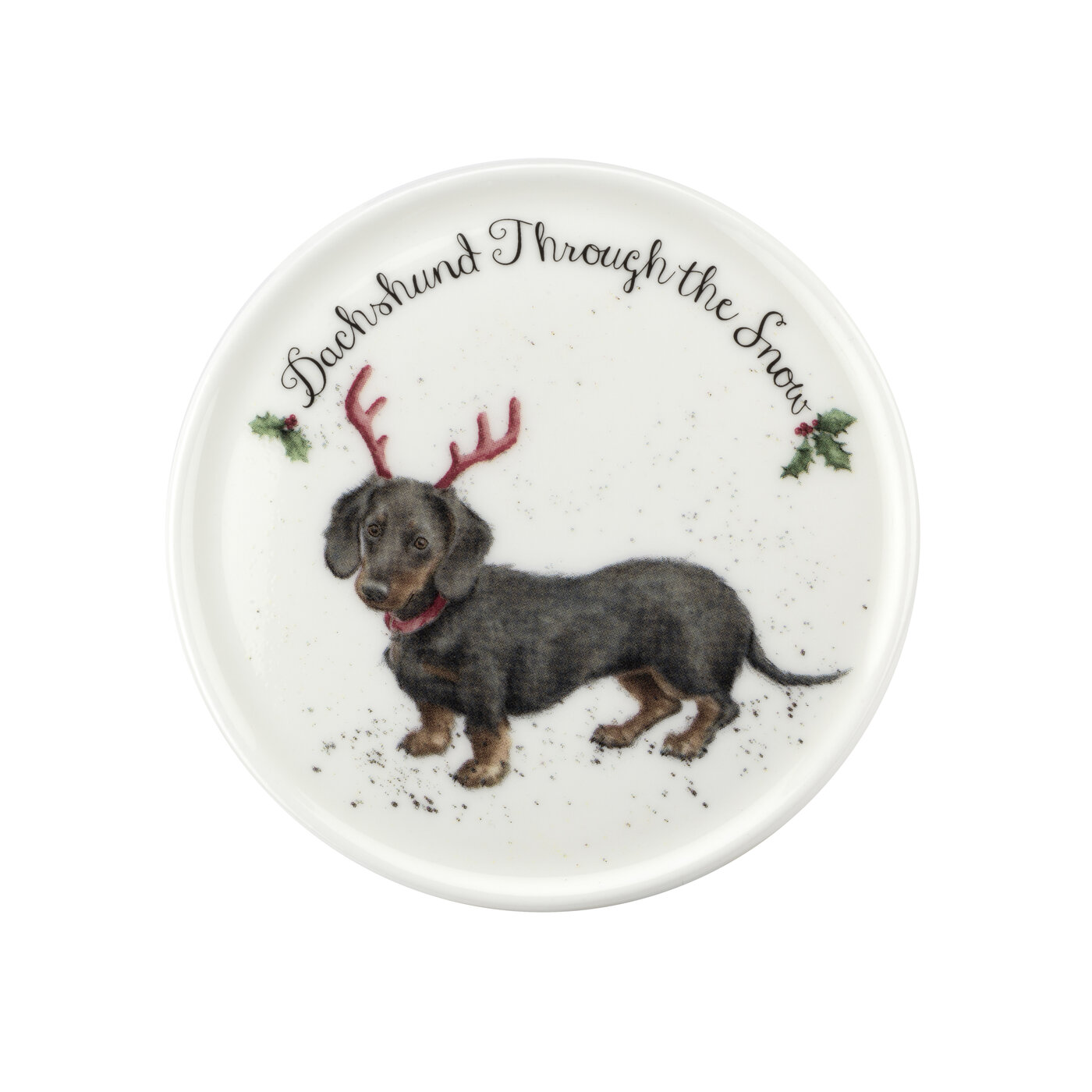 Royal Worcester Wrendale Designs 11 oz Mug & Coaster Set Dachshund Through The Snow image number 2