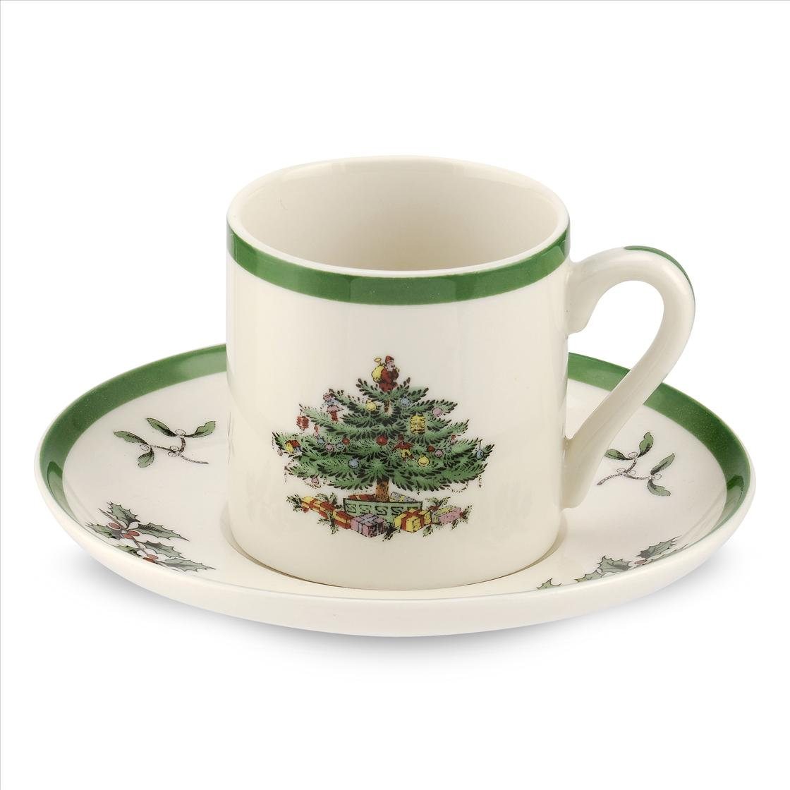 Spode Christmas Tree Set of 4 Espresso Cups  image number 0