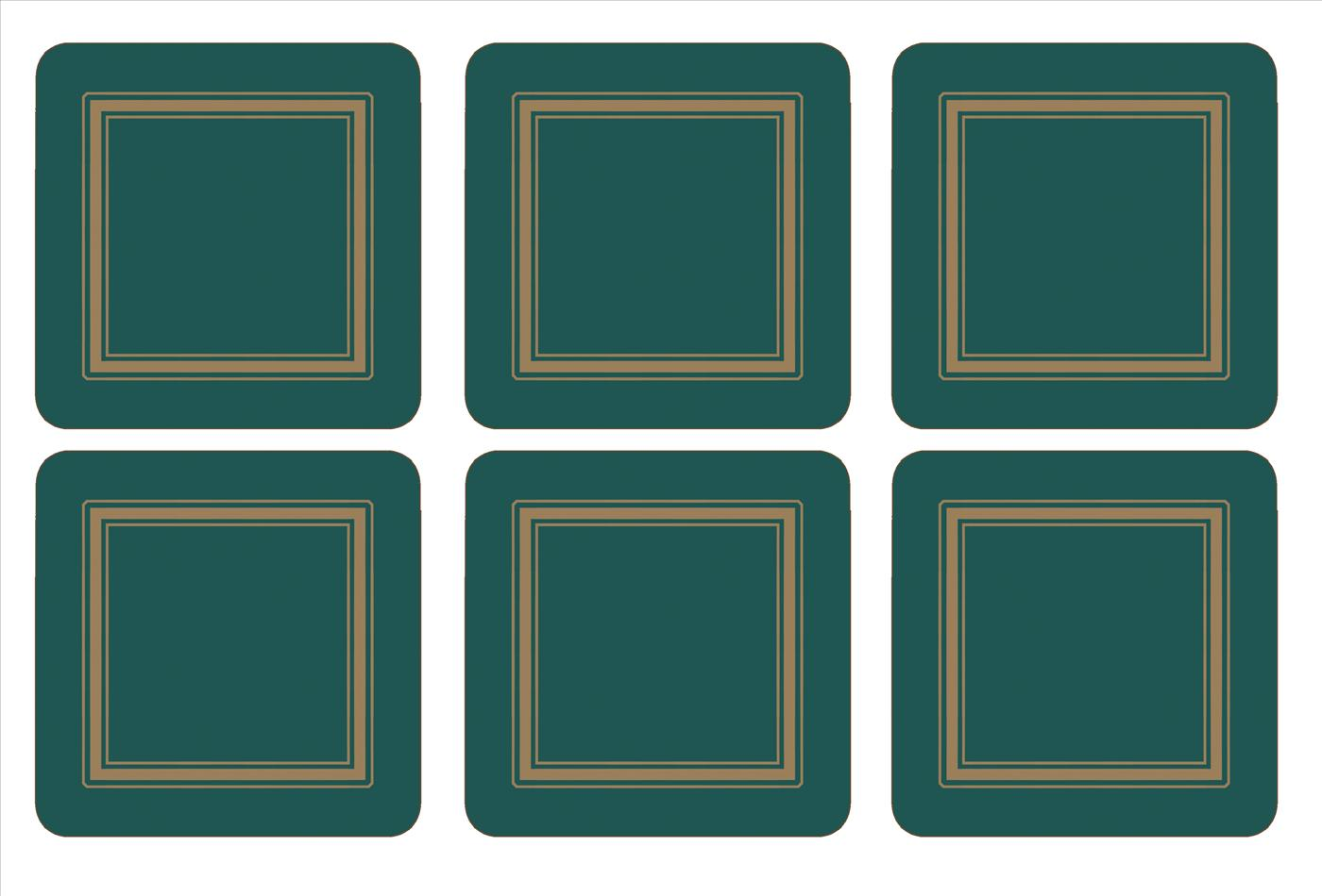 Pimpernel Classic Emerald Coasters Set of 6 image number 0