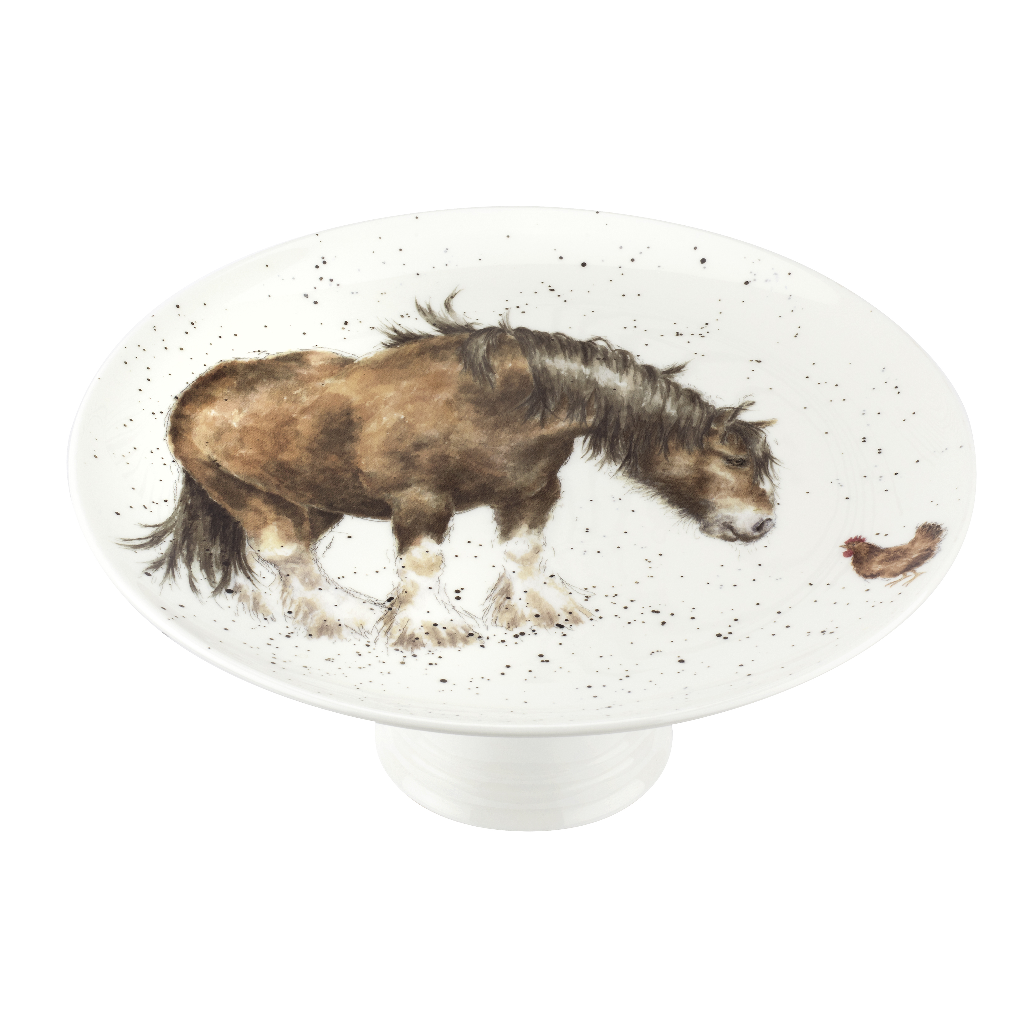 Royal Worcester Wrendale Designs 9.75 Inch Footed Cake Plate (Farmyard Friends) image number 0