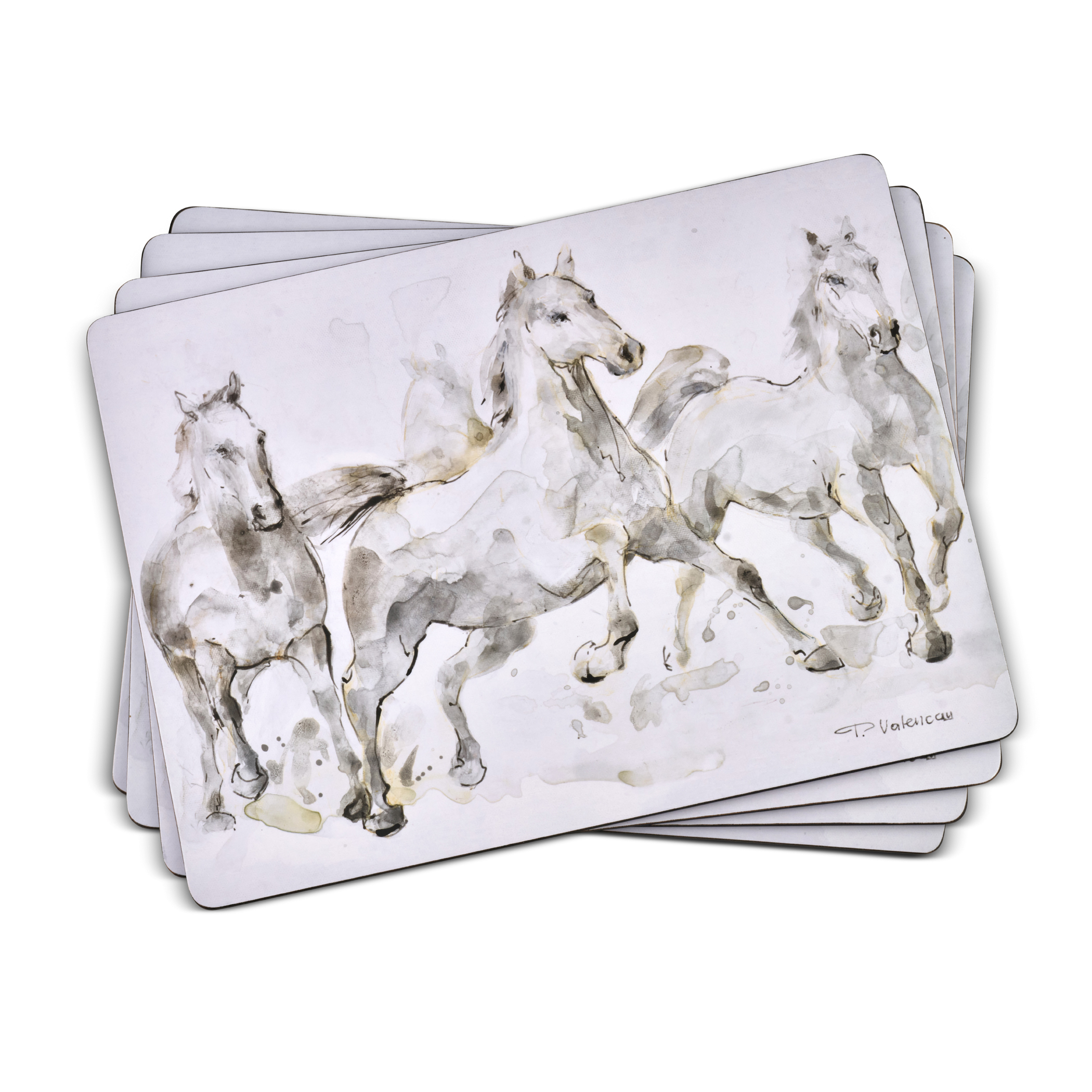 Pimpernel Set of 4 Spirited Horses Placemats image number 0