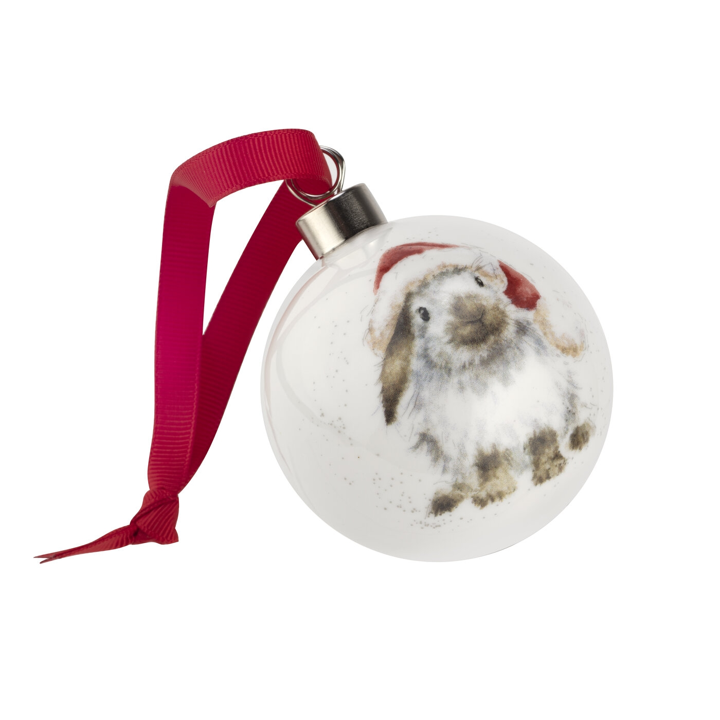 Royal Worcester Wrendale Designs Ho Ho Ho Bauble (Rabbit) image number 0