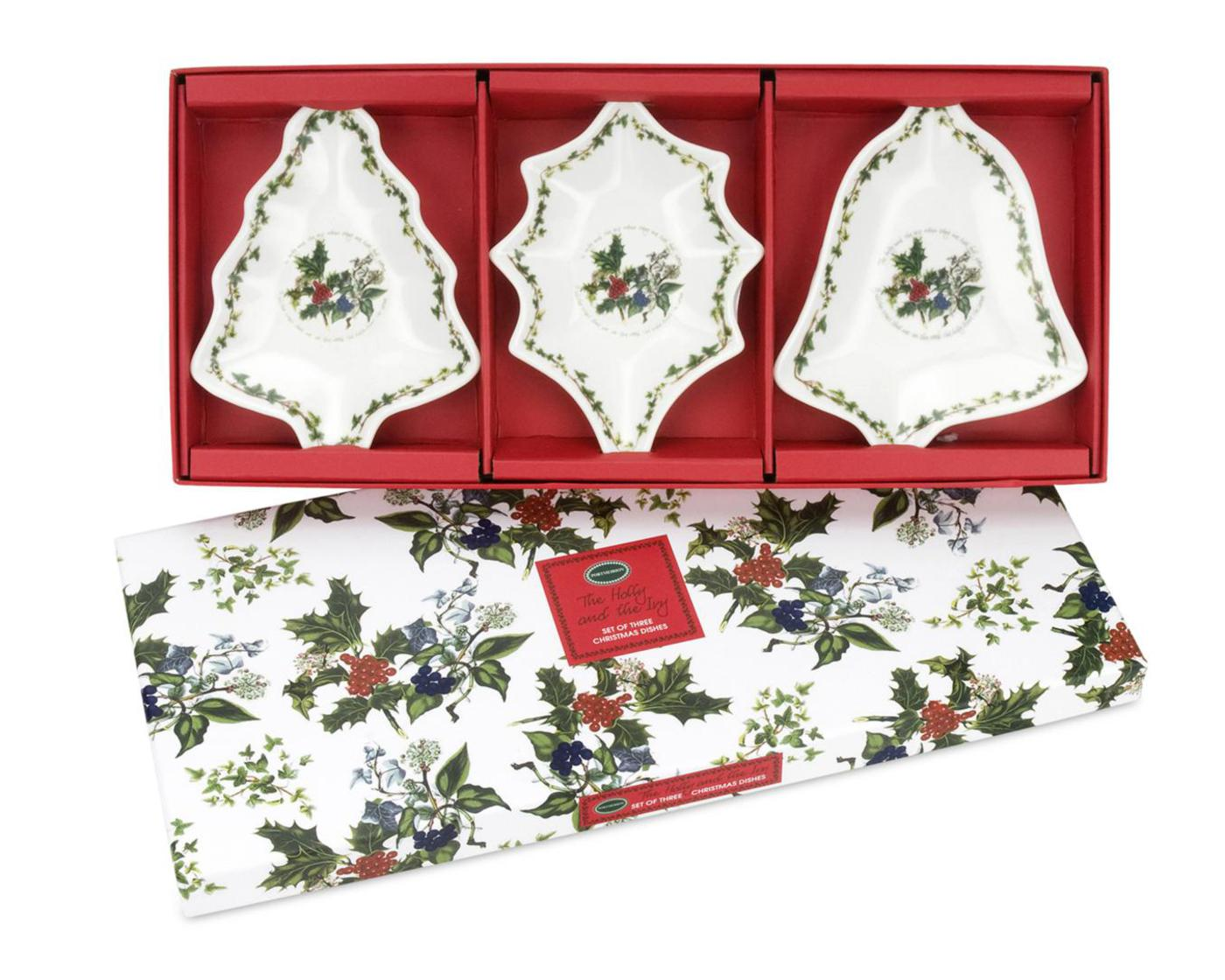 Portmeirion The Holly and The Ivy Christmas Dishes Set of 3 image number 0