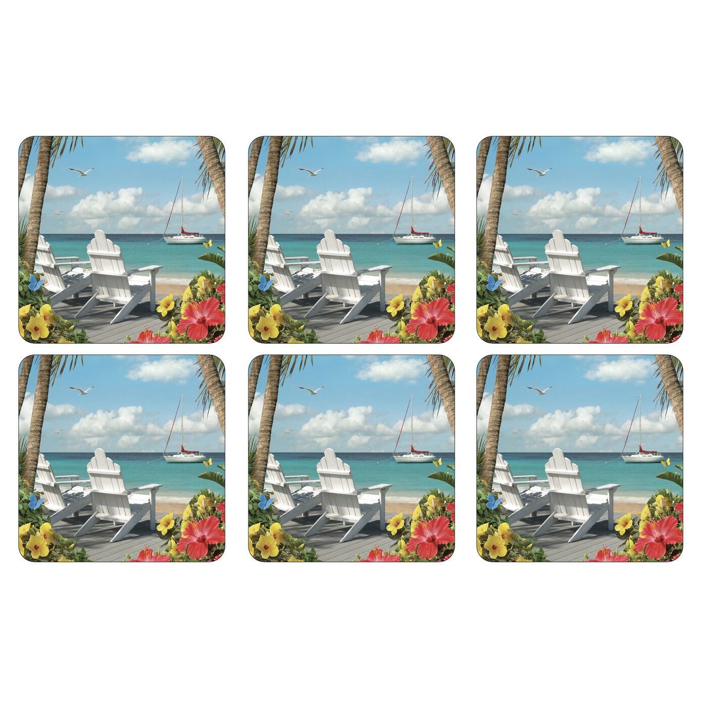 Pimpernel In The Sunshine Coasters Set of 6 image number 0