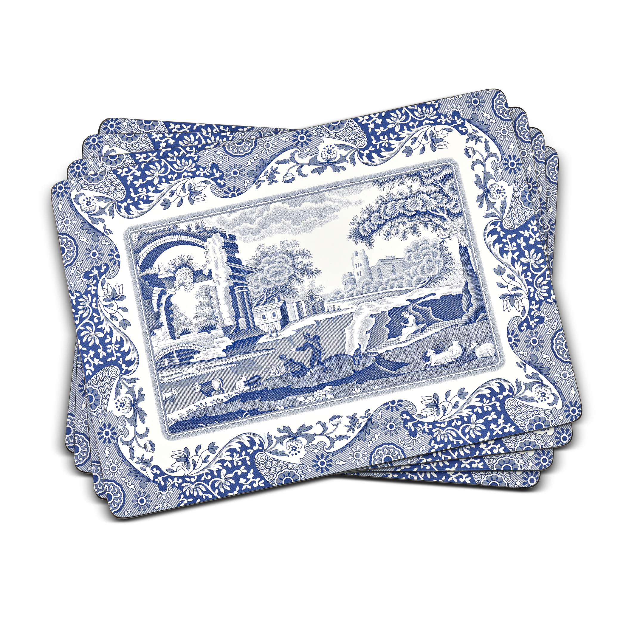 Pimpernel Blue Italian Placemats Set of 4 image number 0