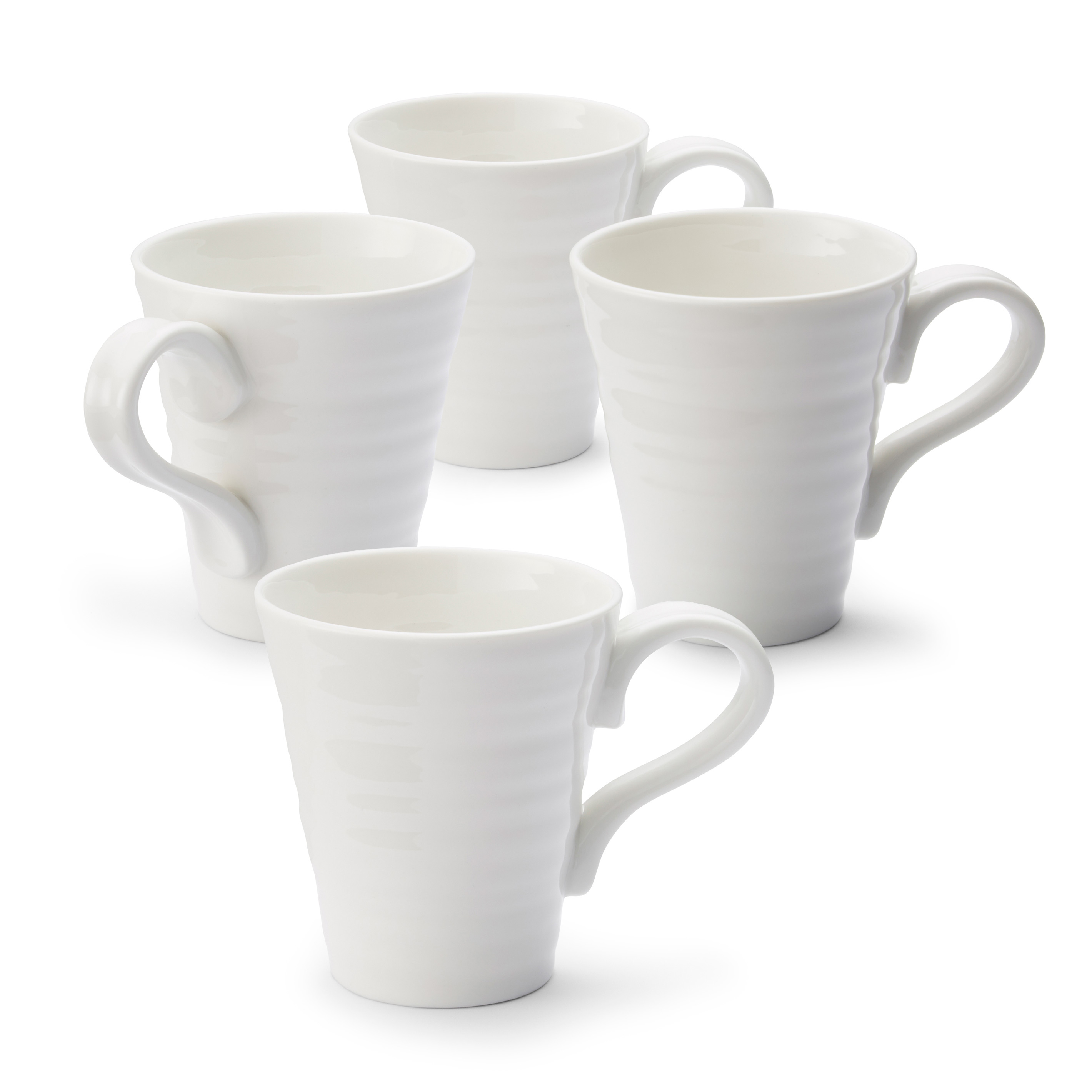 Portmeirion Sophie Conran White Set of 4 Mugs image number 0