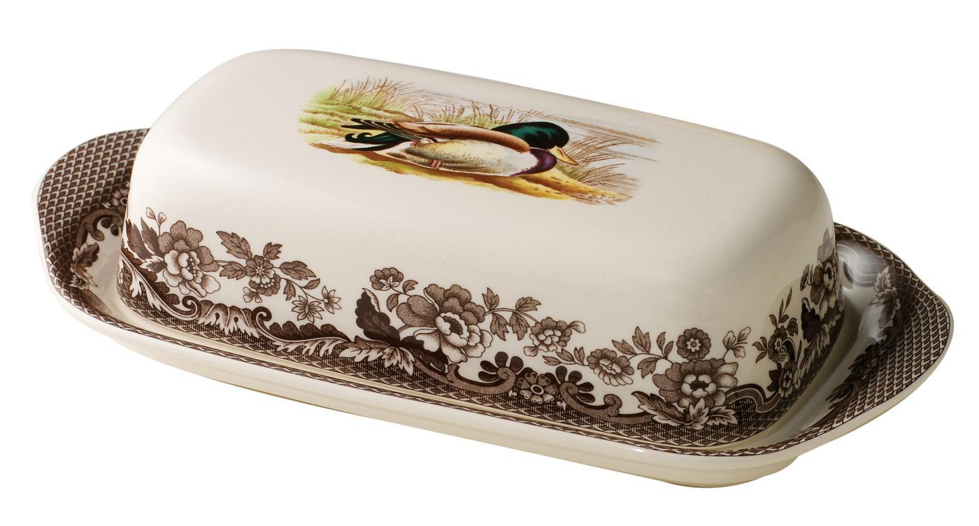 Spode Woodland Covered Butter Dish (Mallard) image number 0