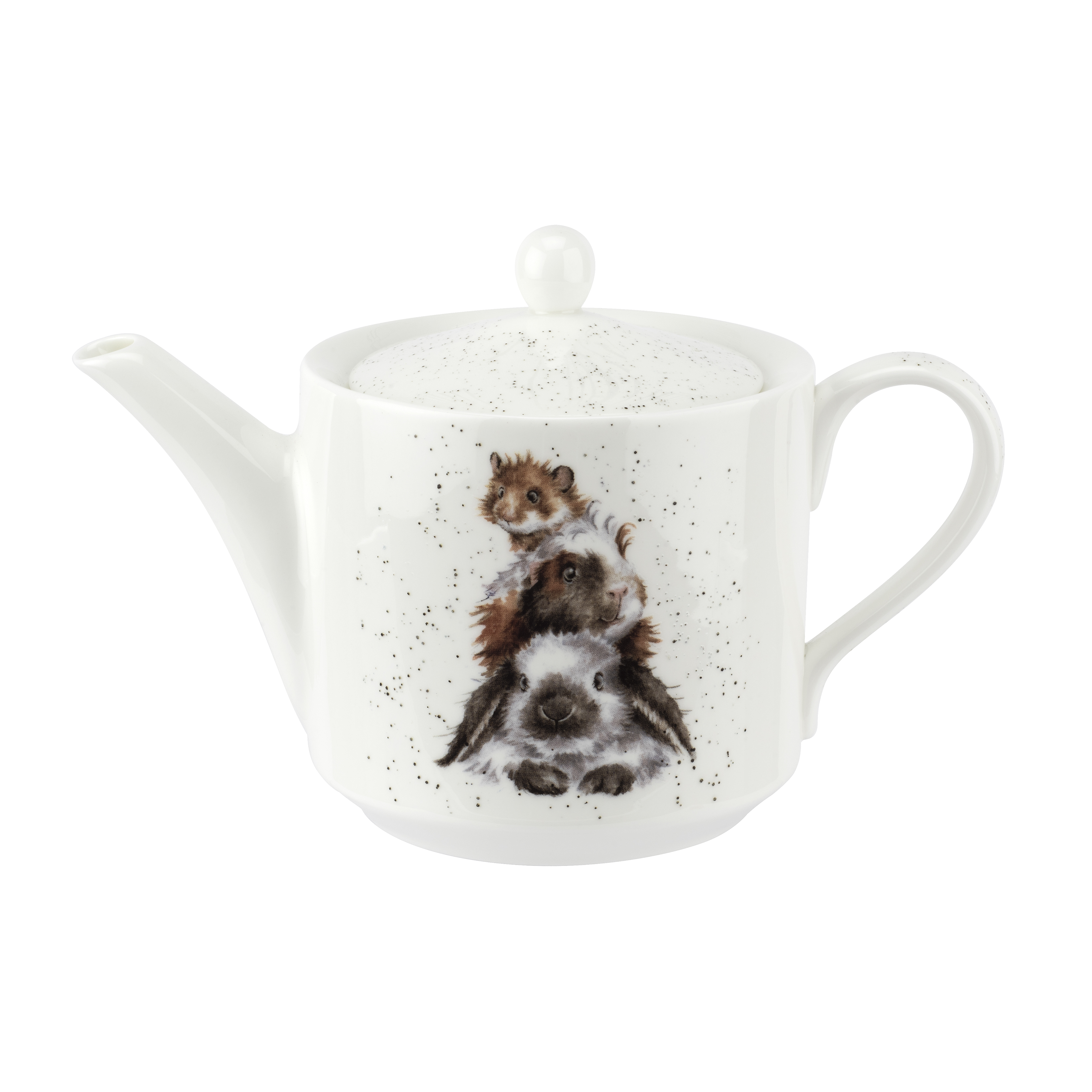 Royal Worcester Wrendale Designs Teapot 1 Pint (Piggy In The Middle) image number 0