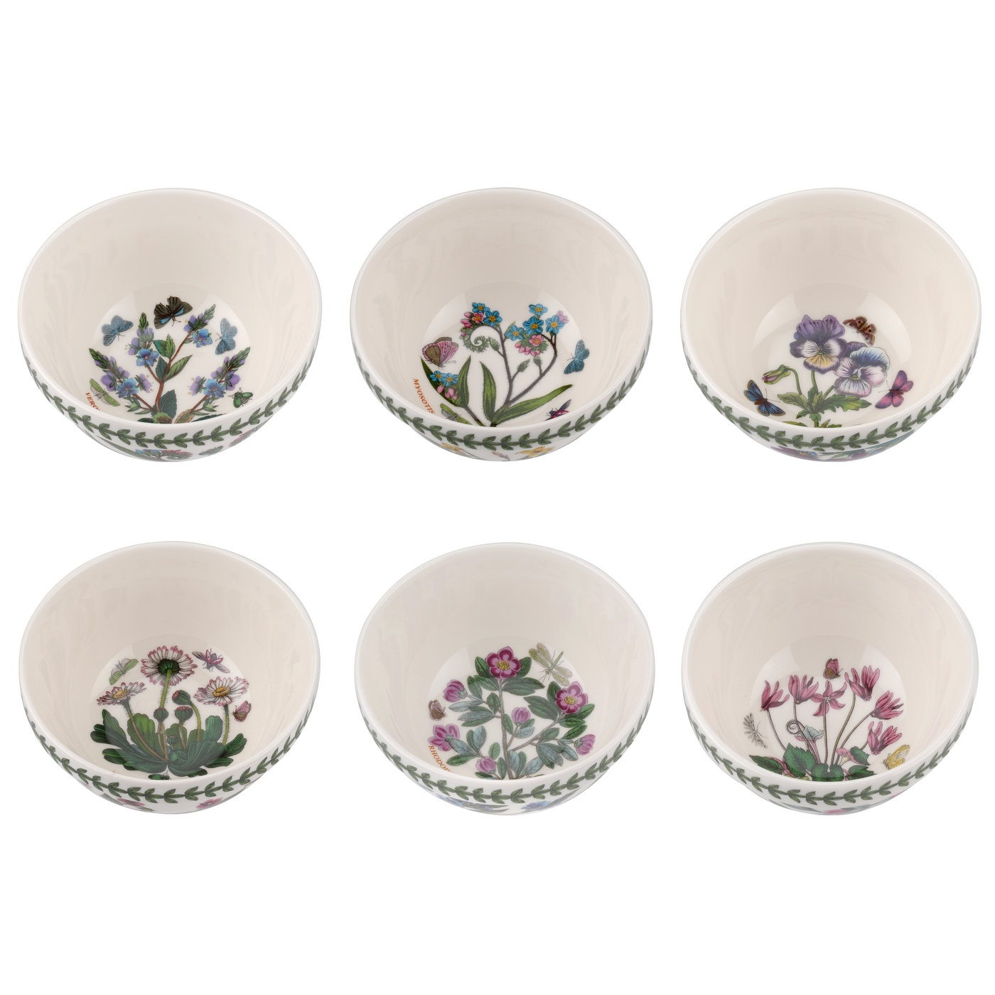 Portmeirion Botanic Garden 5 Inch Stacking Bowl Set of 6 (Assorted Motifs) image number 0
