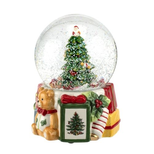 Spode Christmas Tree 6.5 Inch 250th Anniversary Snow Globe image number 0
