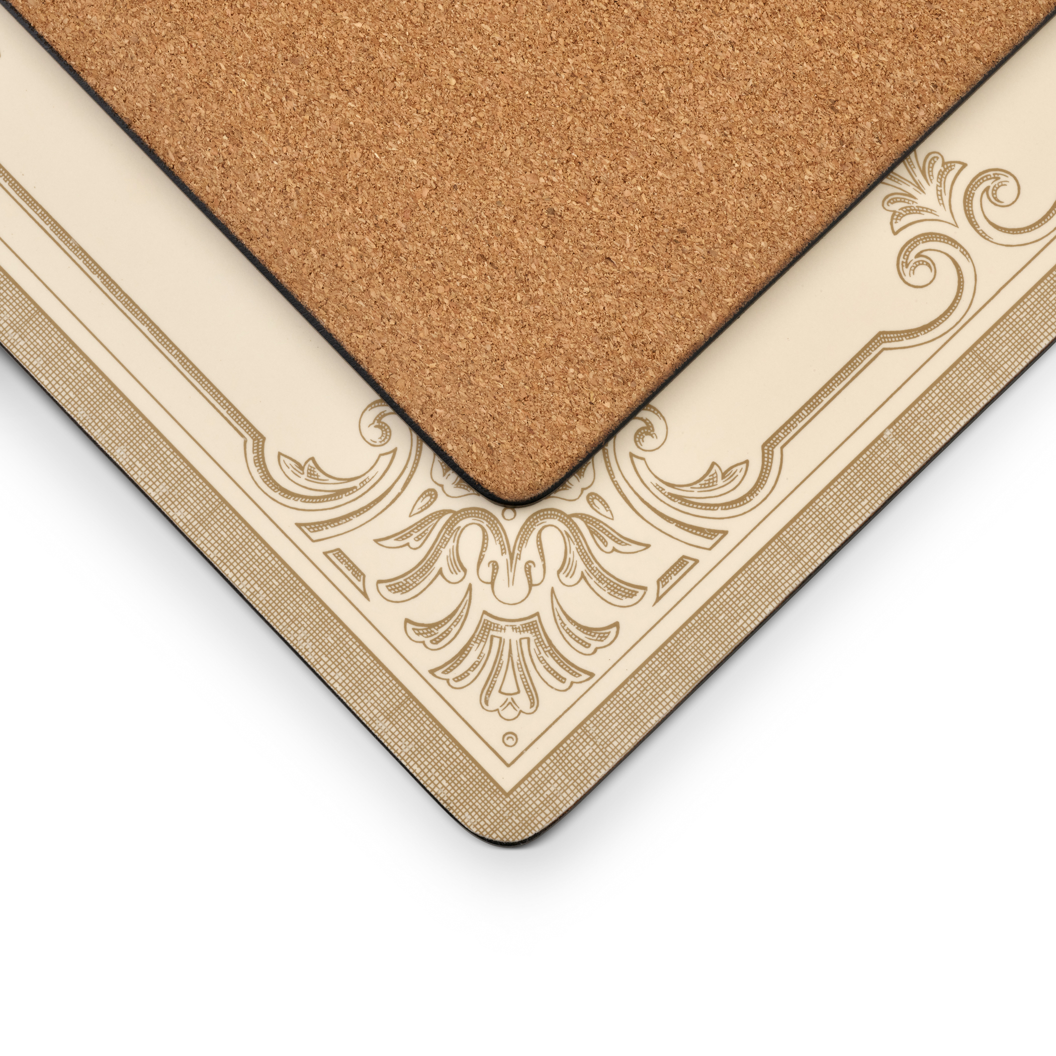 Pimpernel FDC-Fleur de Lys Taupe/Gold Placemats Set of 4 image number 2