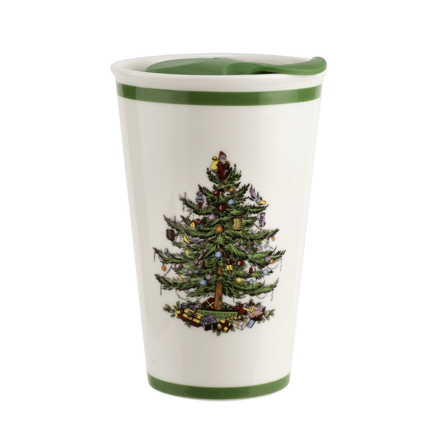 Spode Christmas Tree Travel Mug With Lid image number 0