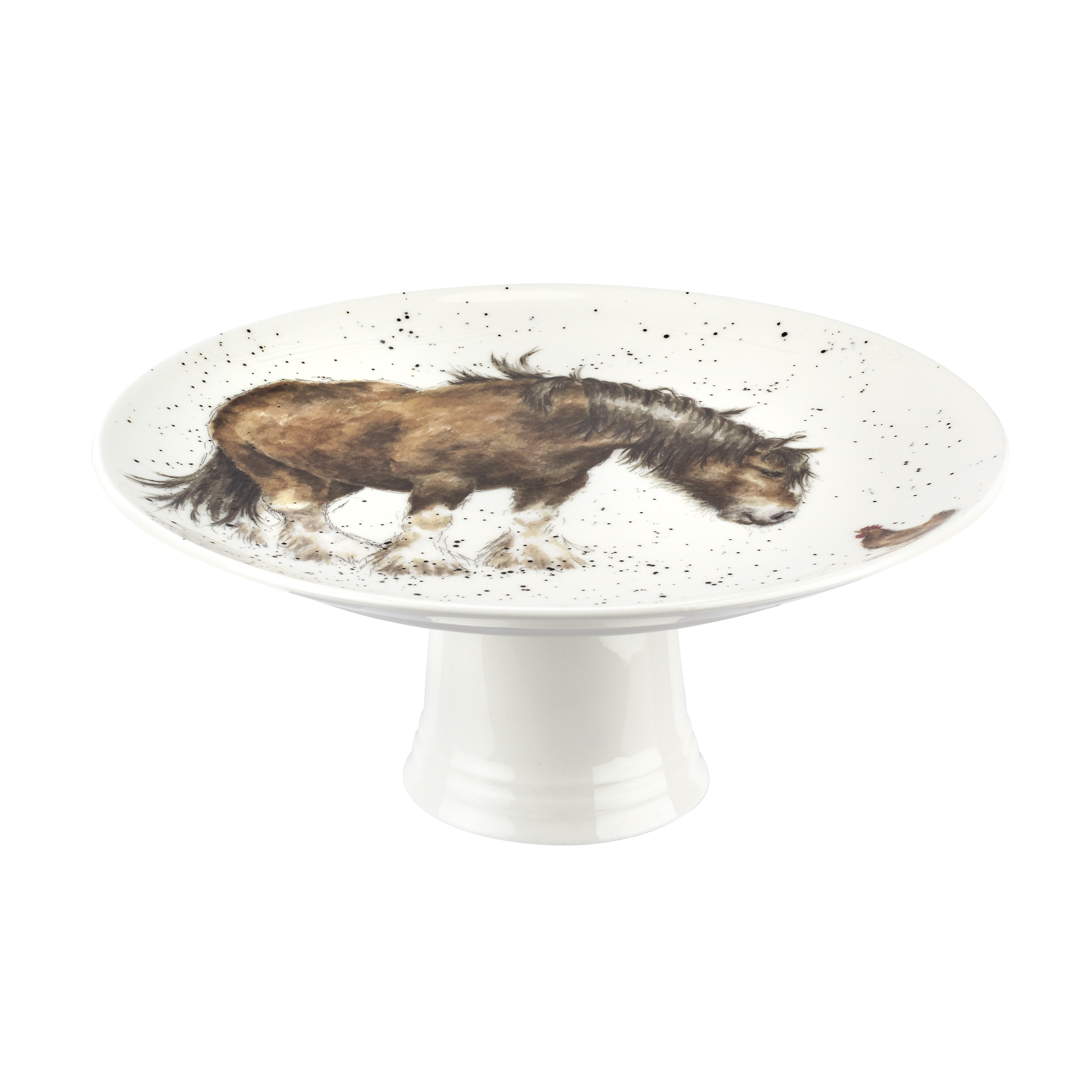 Royal Worcester Wrendale Designs 9.75 Inch Footed Cake Plate (Farmyard Friends) image number 1