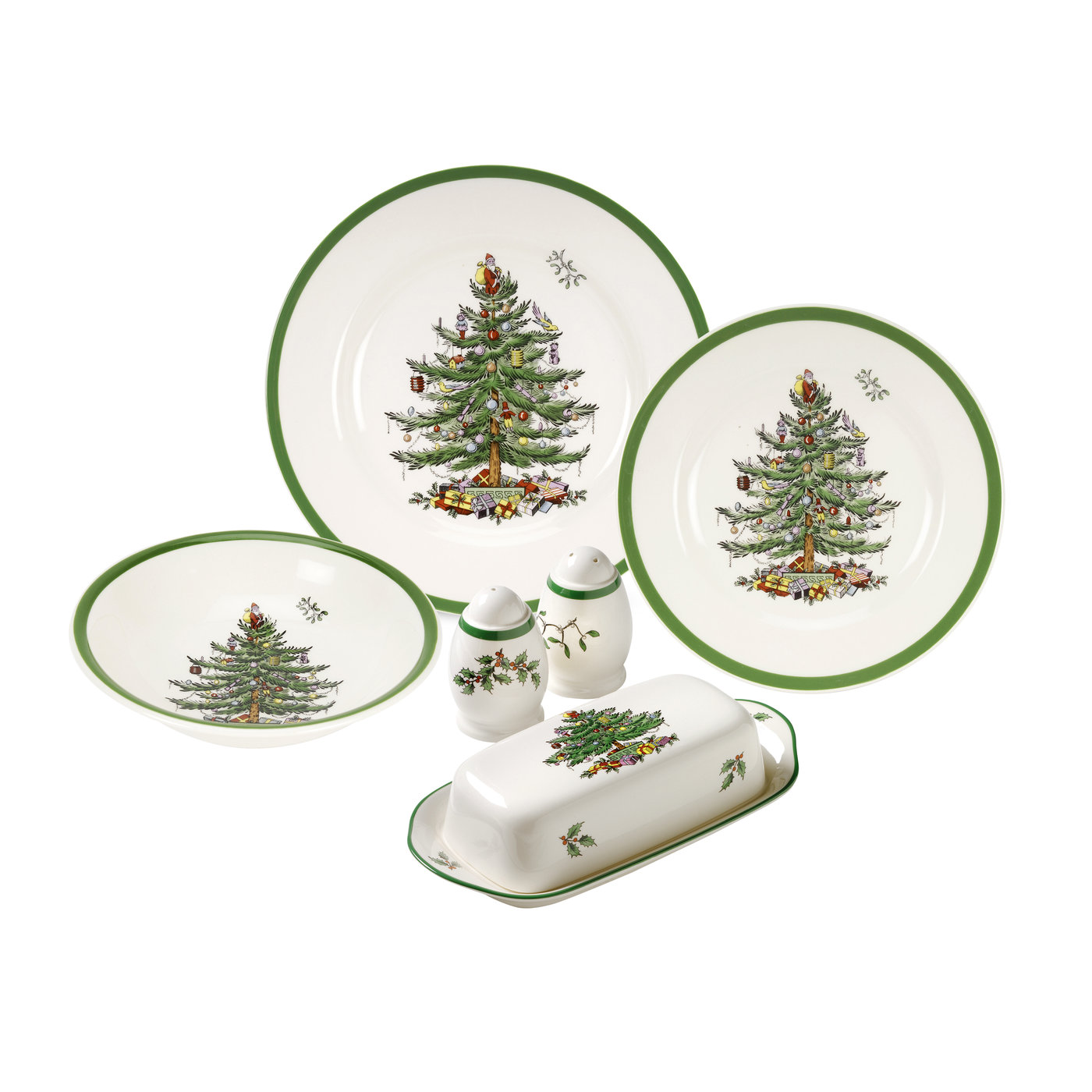 Spode Christmas Tree 28-Piece Set with Shallow Cereal Bowl image number 0