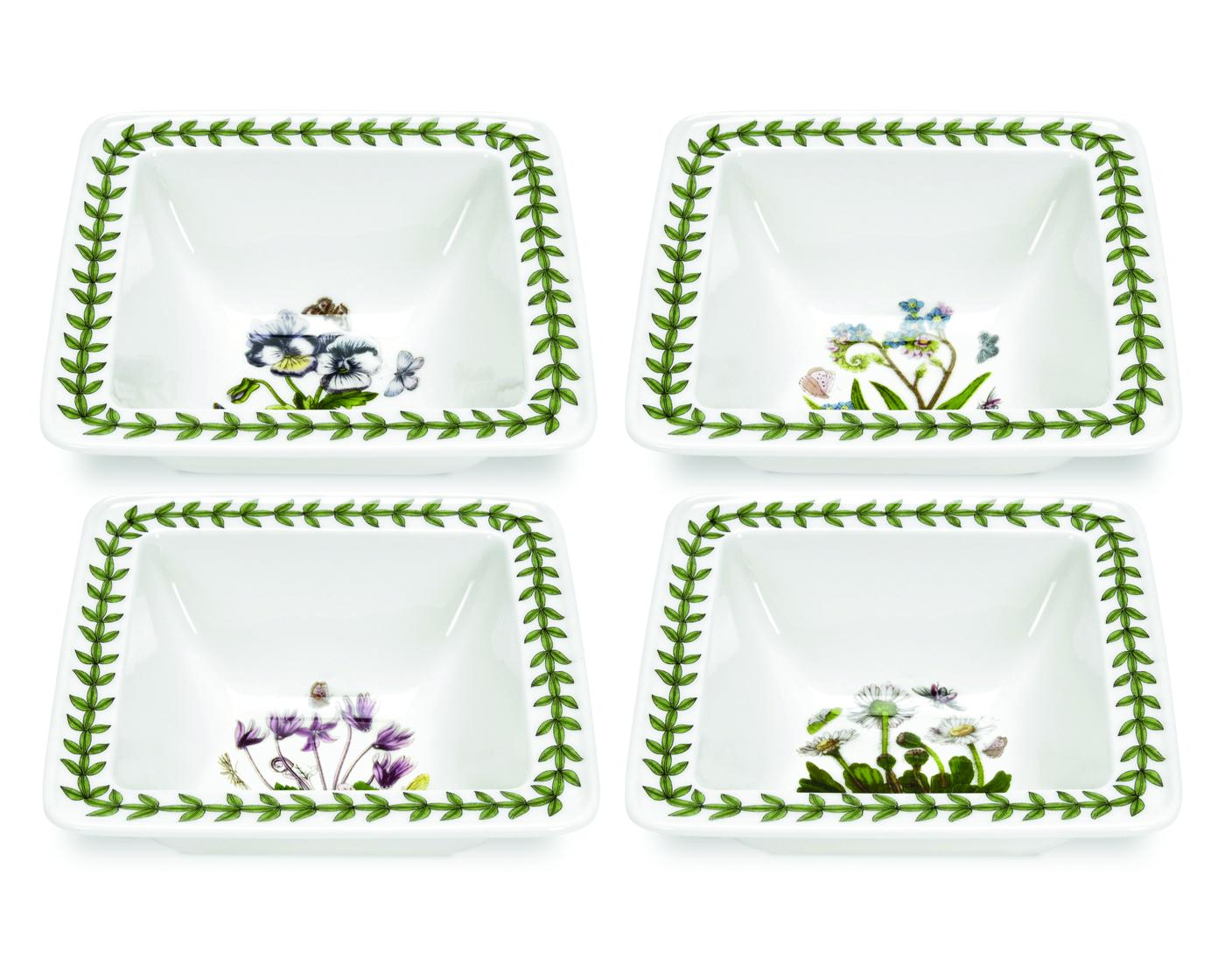 Botanic Garden Set of 4 Square Mini Bowls (Assorted Motifs) image number 0
