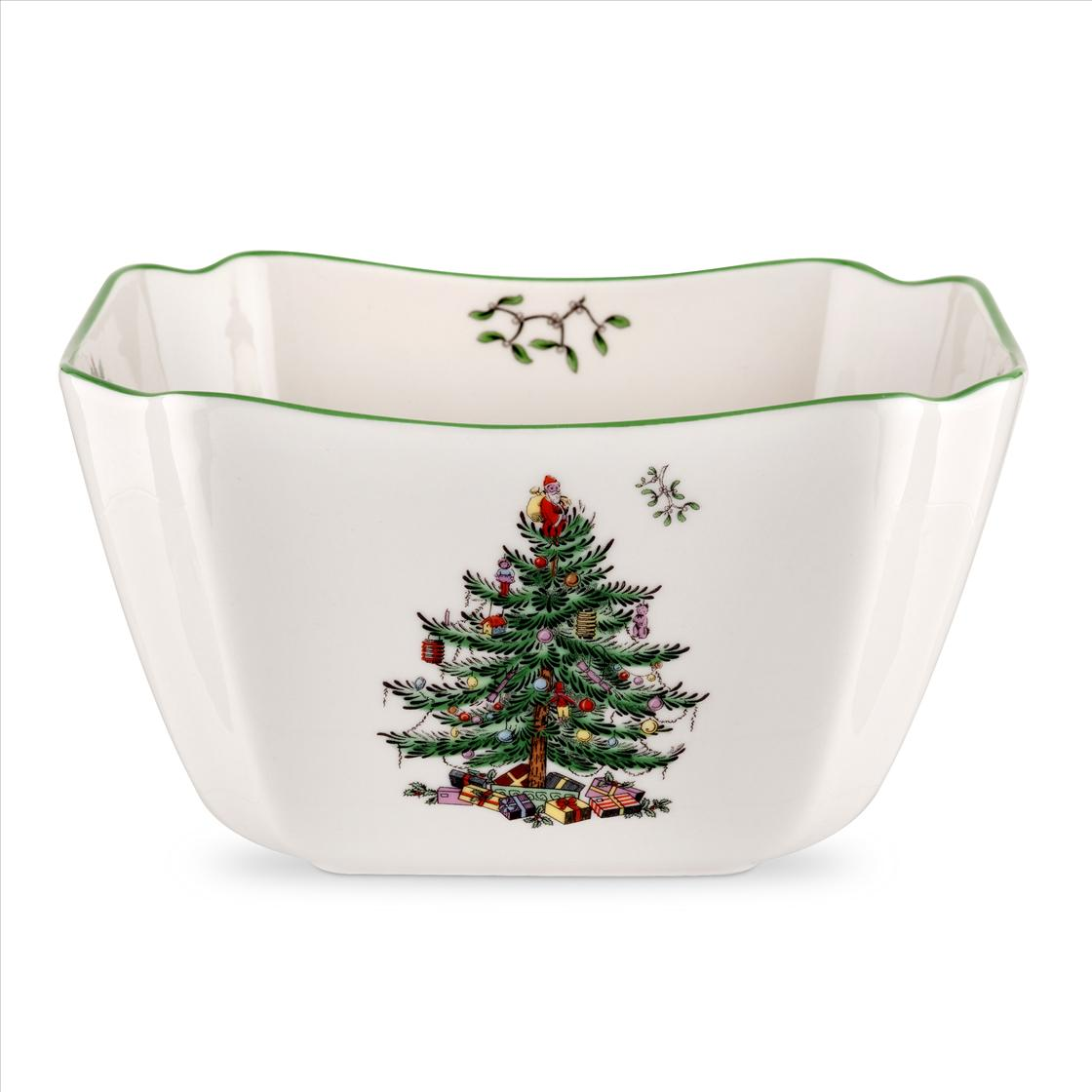 Spode Christmas Tree Small Square Bowl image number 0