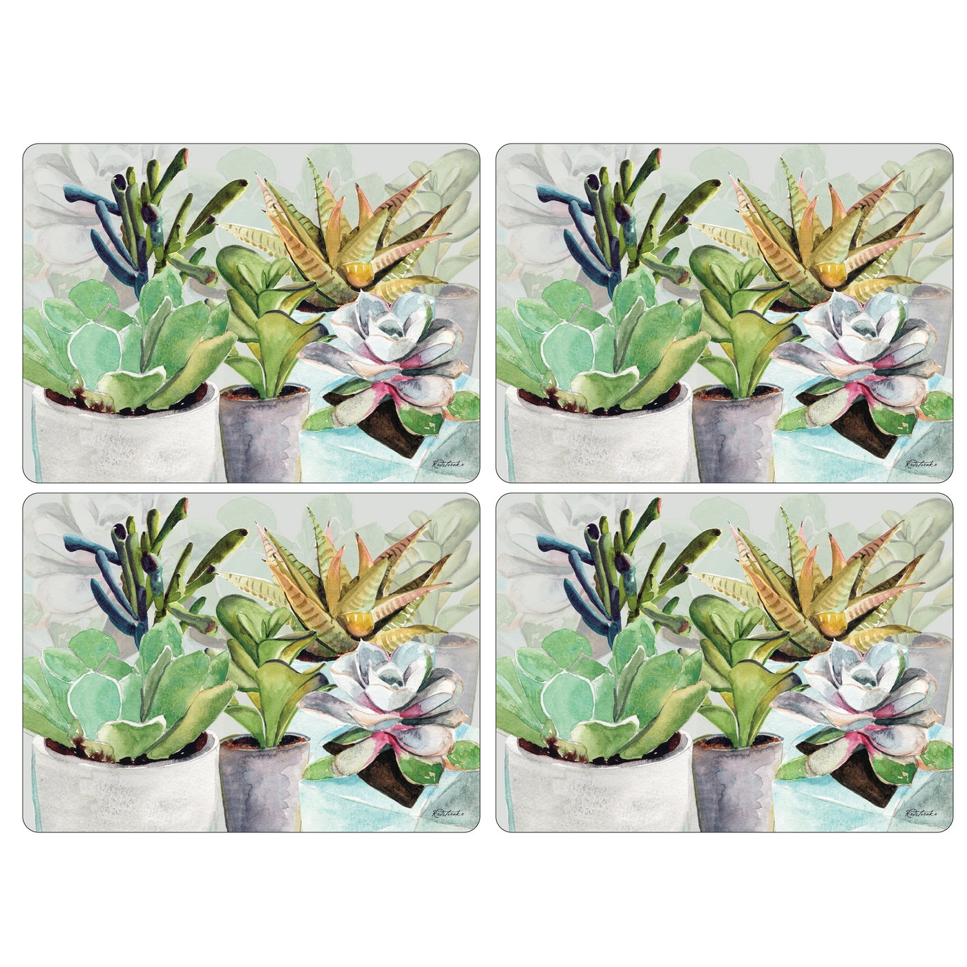 Pimpernel Succulents Placemats Set of 4 image number 0