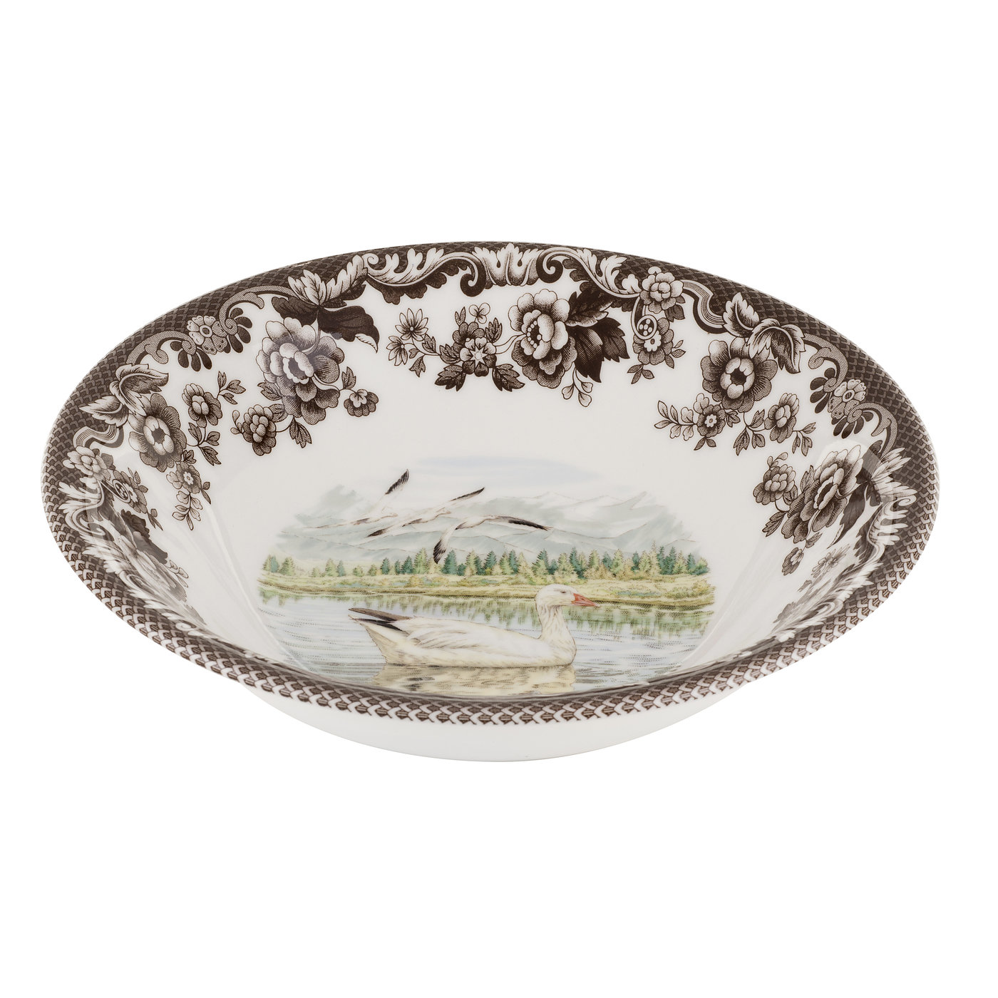 Spode Woodland Ascot Cereal Bowl 8 Inch (Snow Goose) image number 0