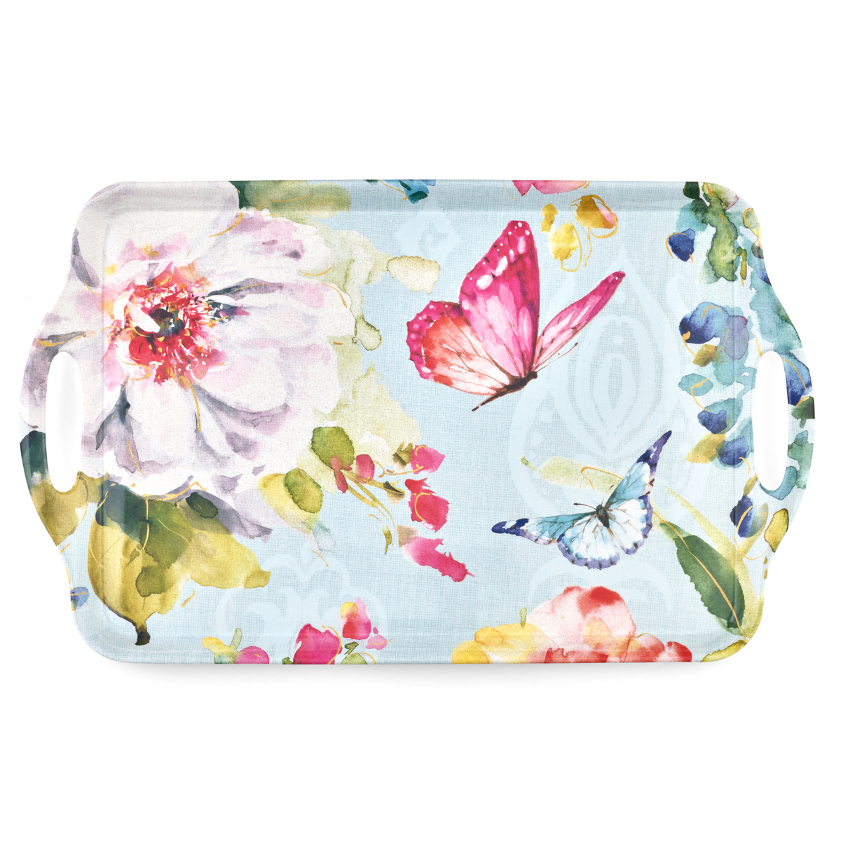 Pimpernel Colorful Breeze Large Melamine Handled Tray image number 0