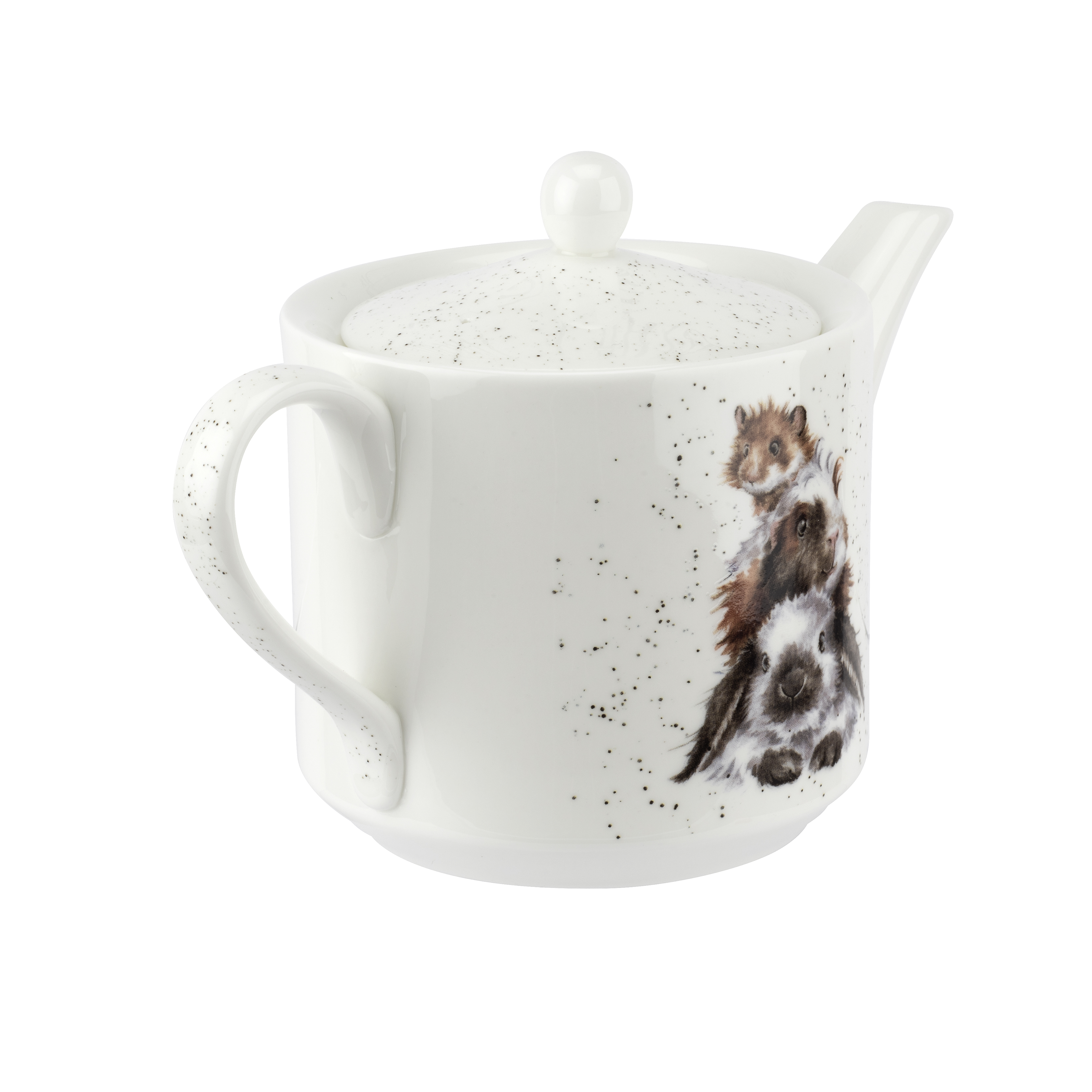 Royal Worcester Wrendale Designs Teapot 1 Pint (Piggy In The Middle) image number 2